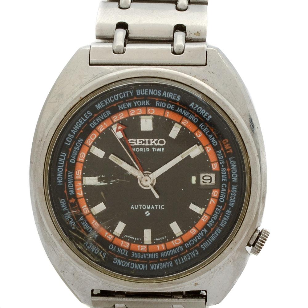 Vintage Seiko Automatic Dual Time Wristwatch