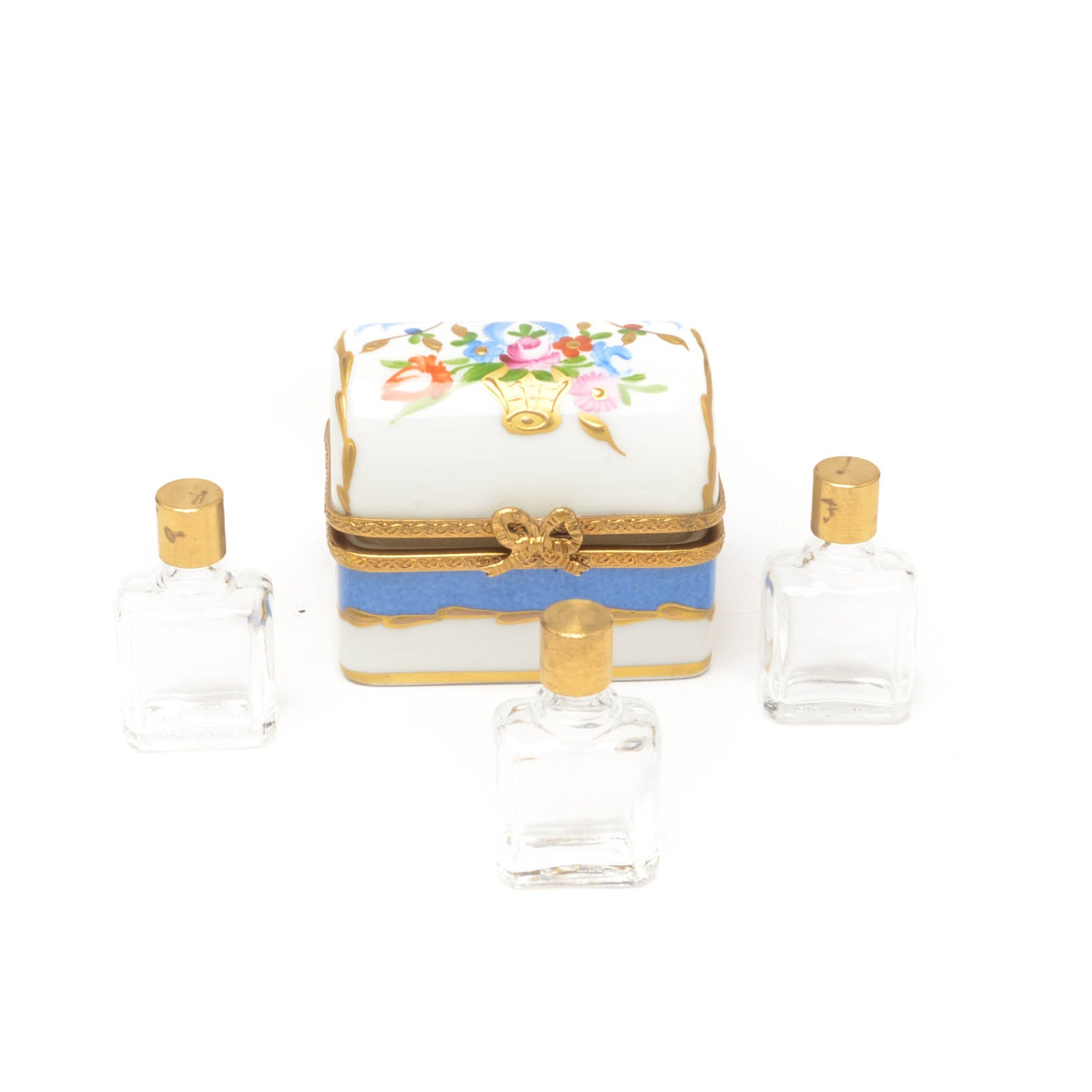Limoges Perfume Trinket Box Signed by Laure Selignac