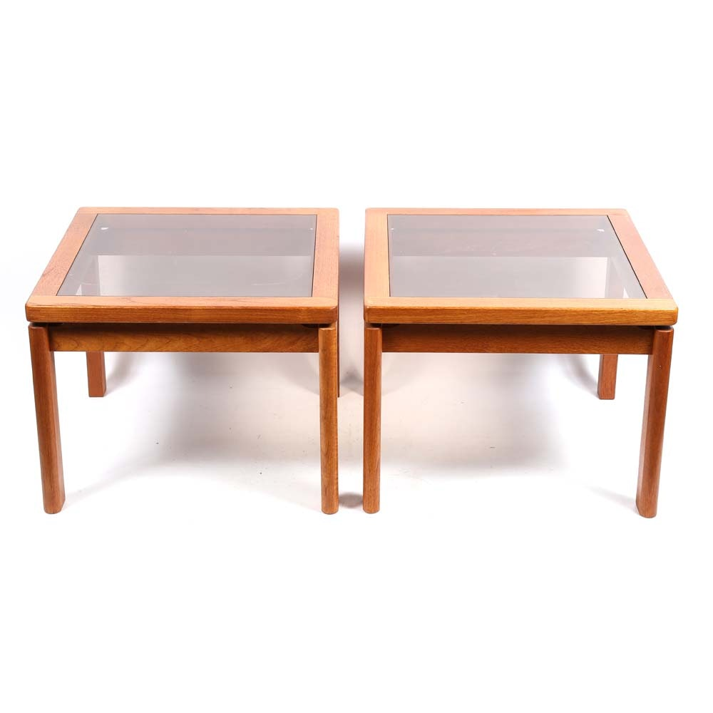 Contemporary Glass Top Side Tables