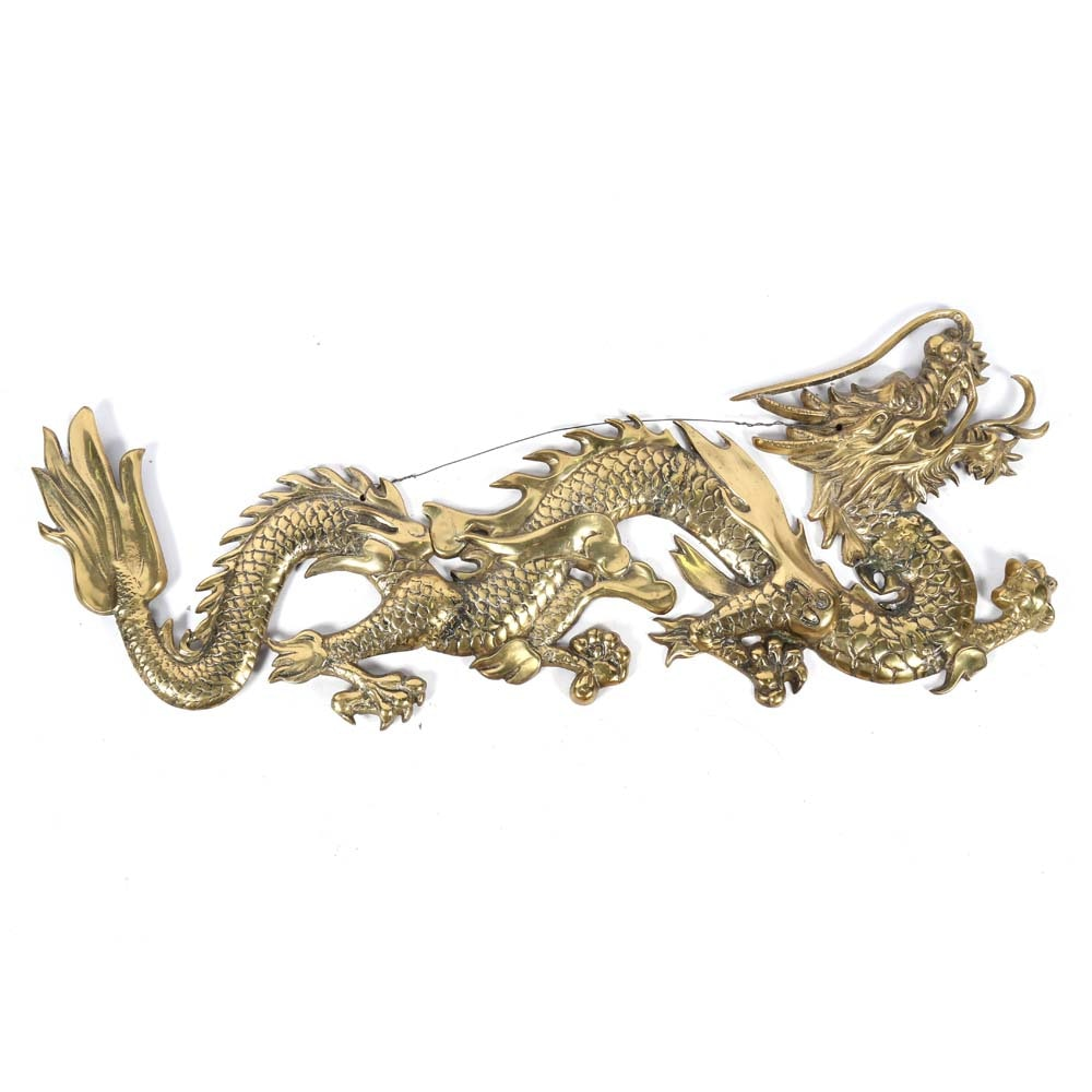 Brass Dragon Wall Sculpture