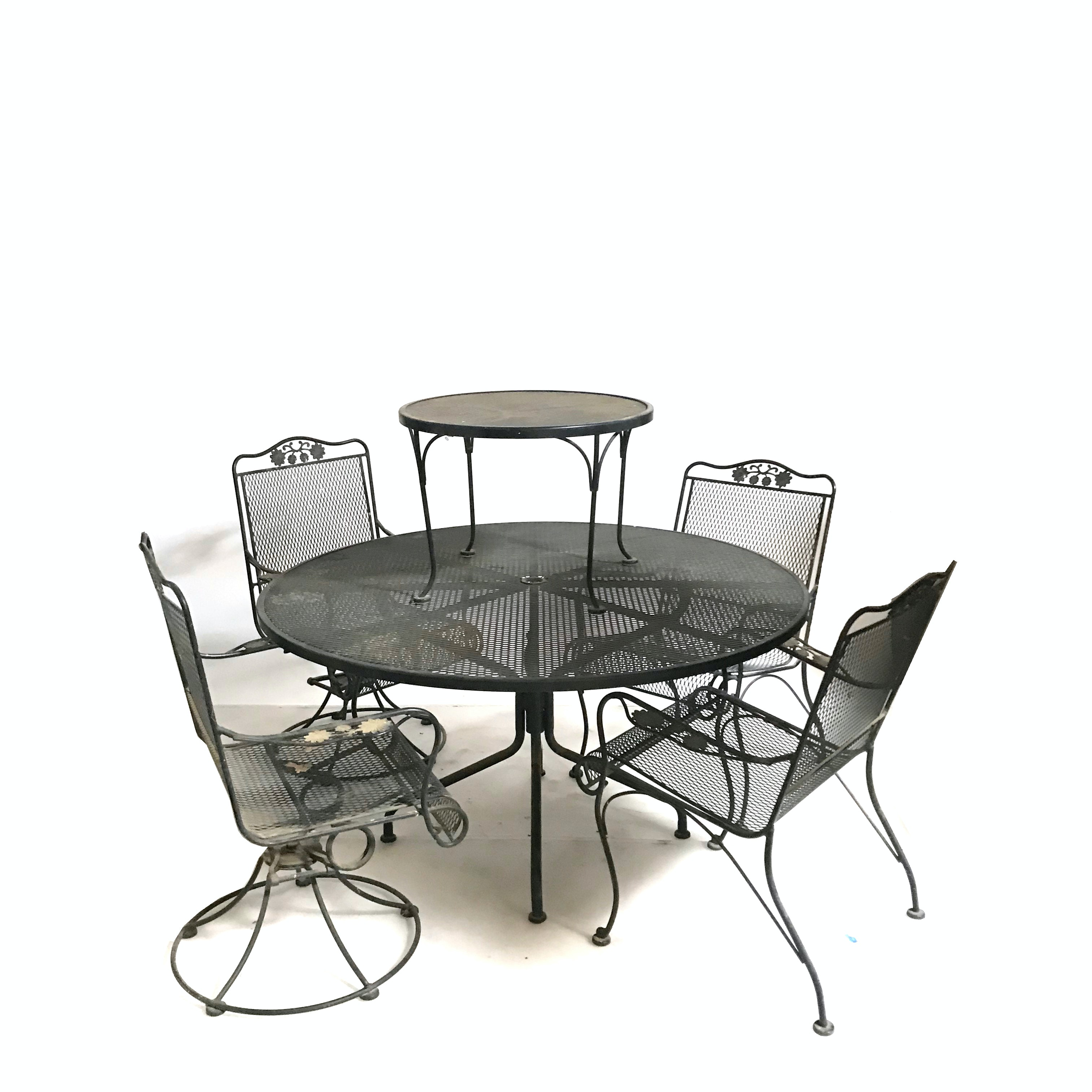 Six-Piece Metal Patio Furniture Set