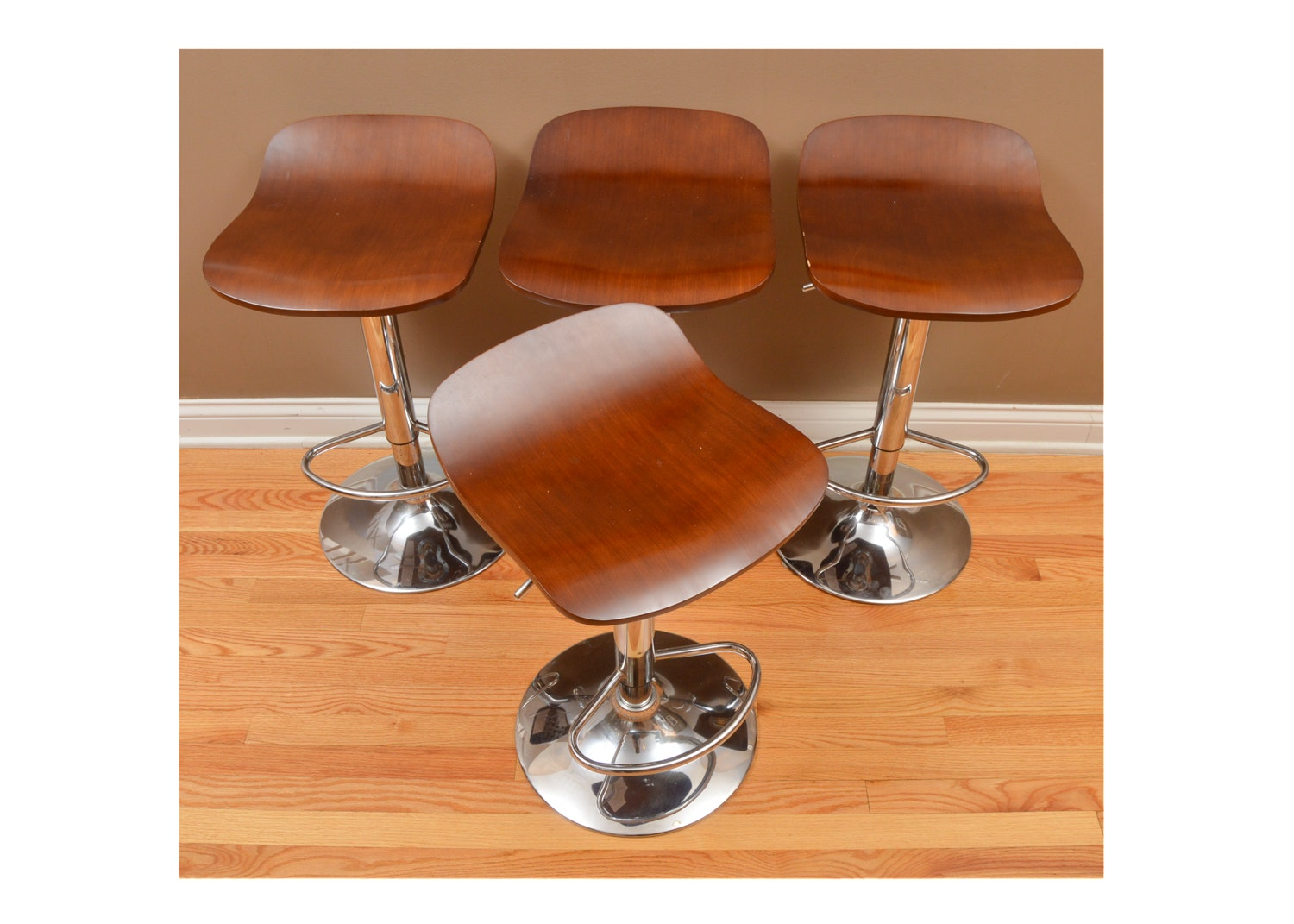 Four Contemporary Modern Style Bar Stools