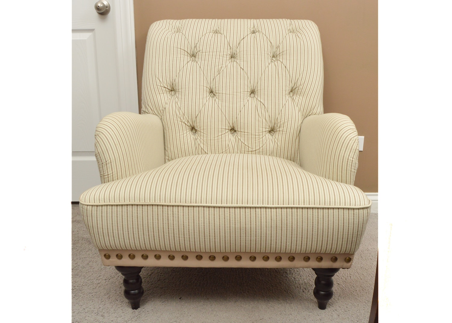 Pier 1 Imports Striped Upholstered Armchair