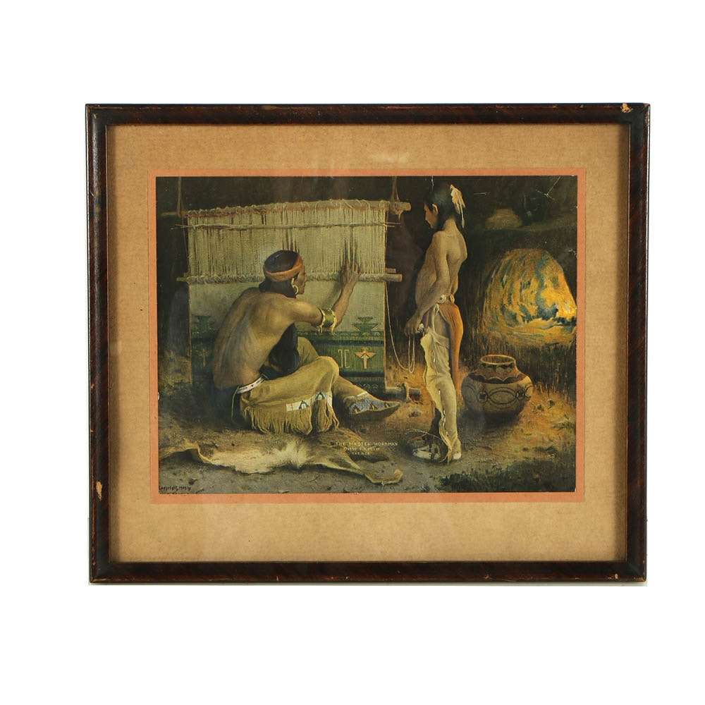 """Offset Lithograph """"The Master Workman"""" after Eanger Irving Couse"""
