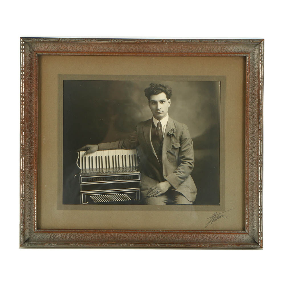 Matson Photograph of Accordion Player