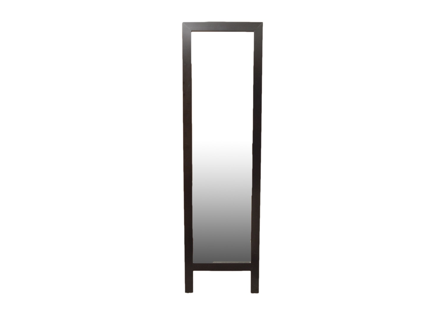 Easel Back Espresso Finished Full Length Standing Mirror