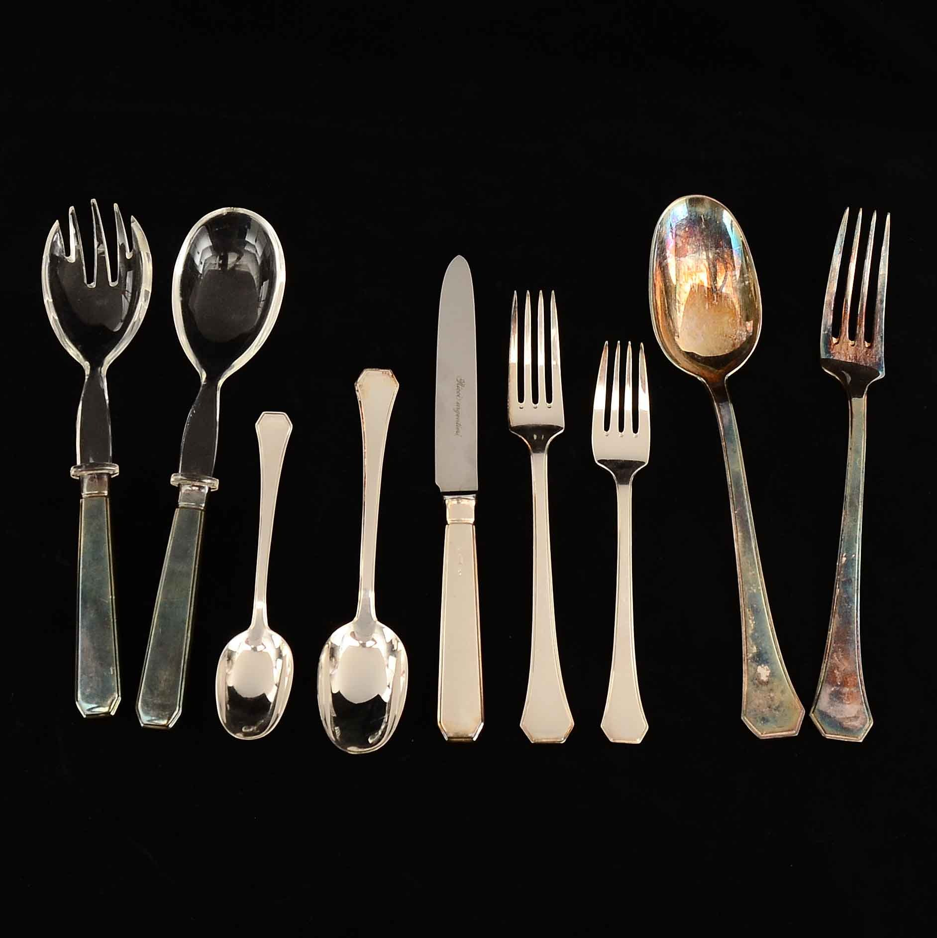 Sterling Flatware Set by Ricci Argentieri of Italy