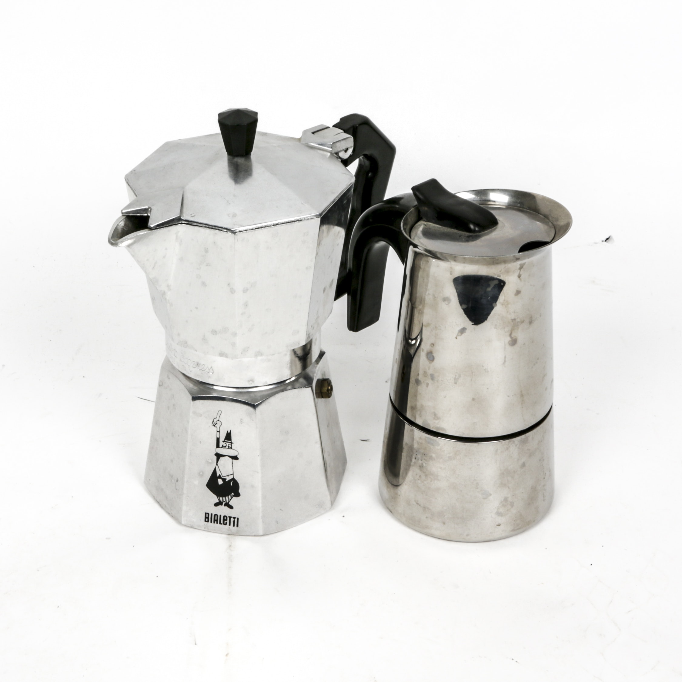 "Italian Inox and Bialetti ""Moka Express"" Espresso Maker"