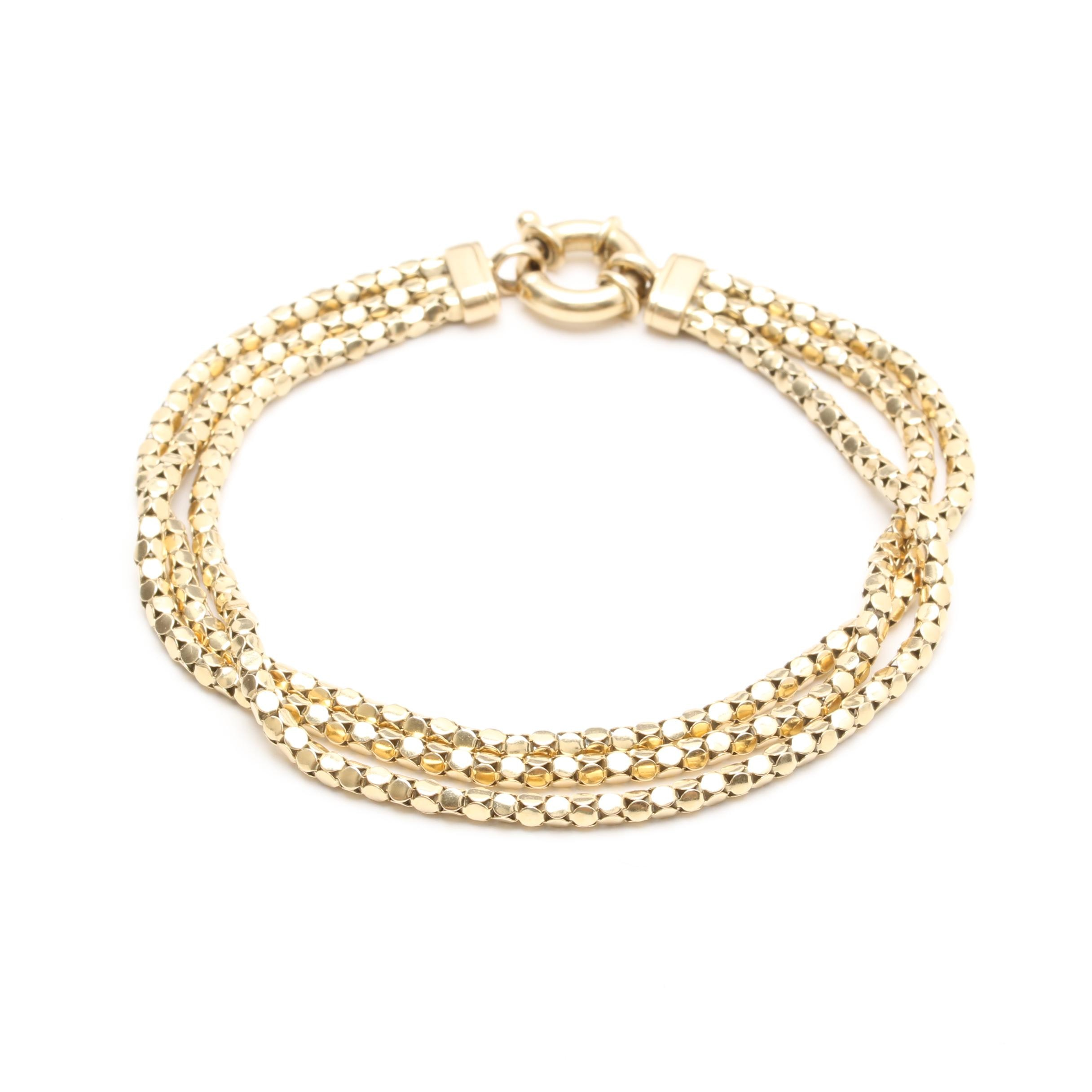 Michael Anthony 14K Yellow Gold Multi-Strand Bracelet