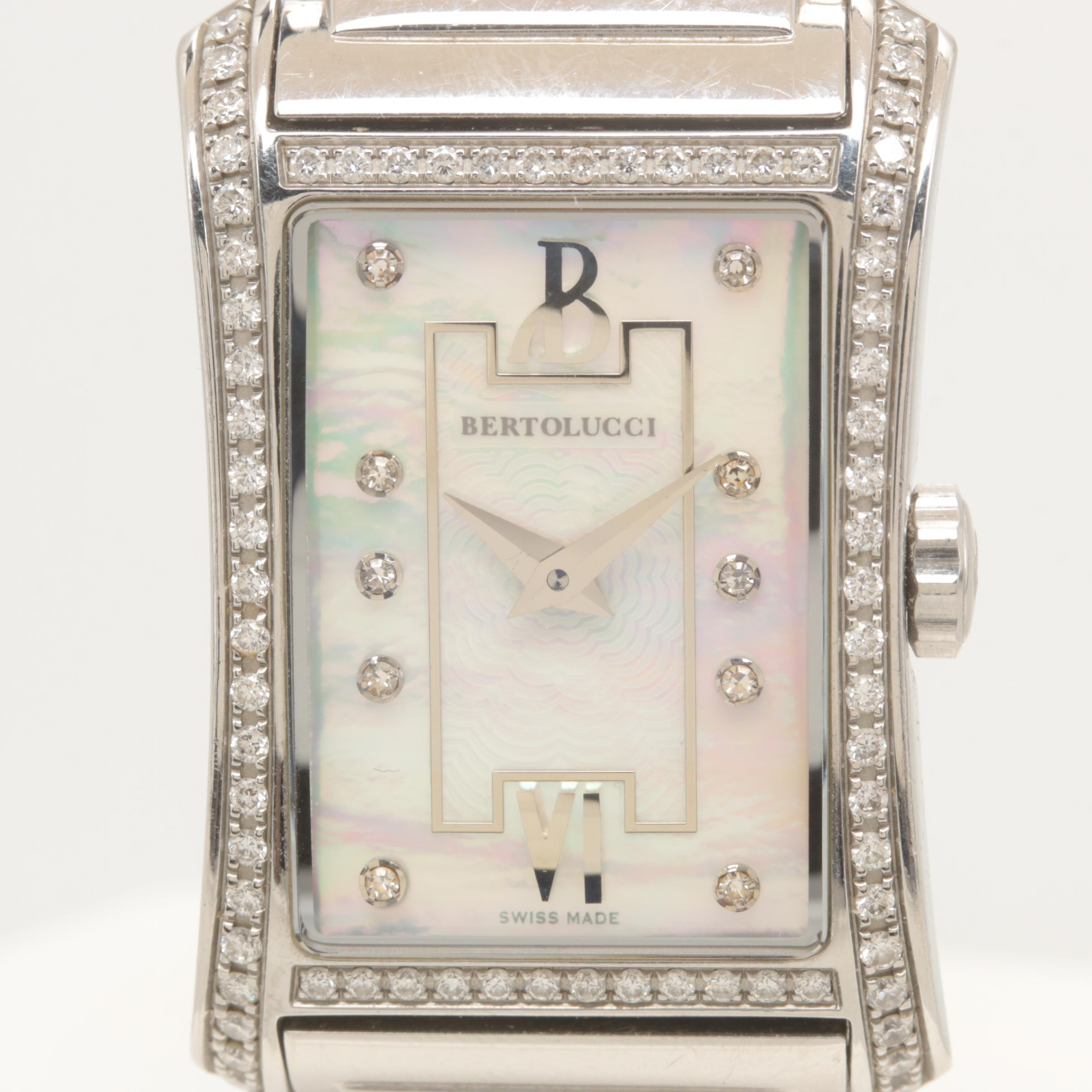"Bertolucci Stainless Steel Diamond ""Fascino"" Wristwatch"