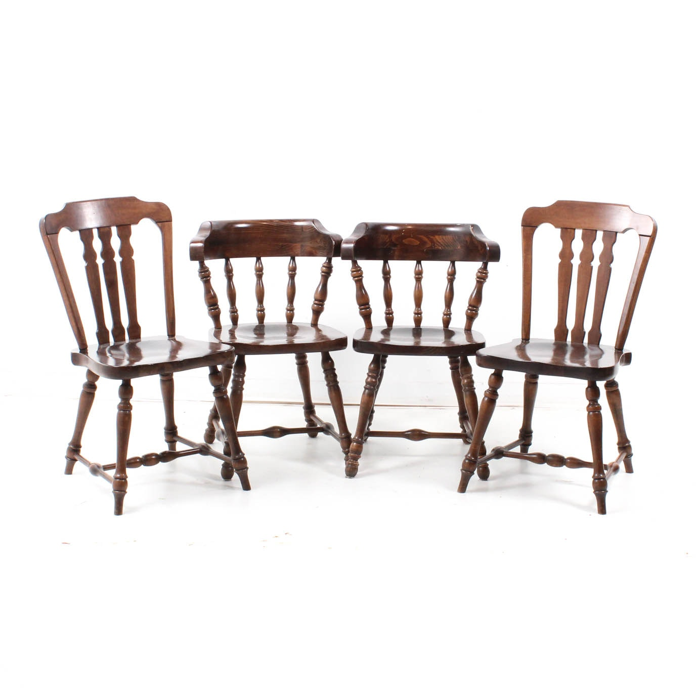 Rustic Pine Side Chairs