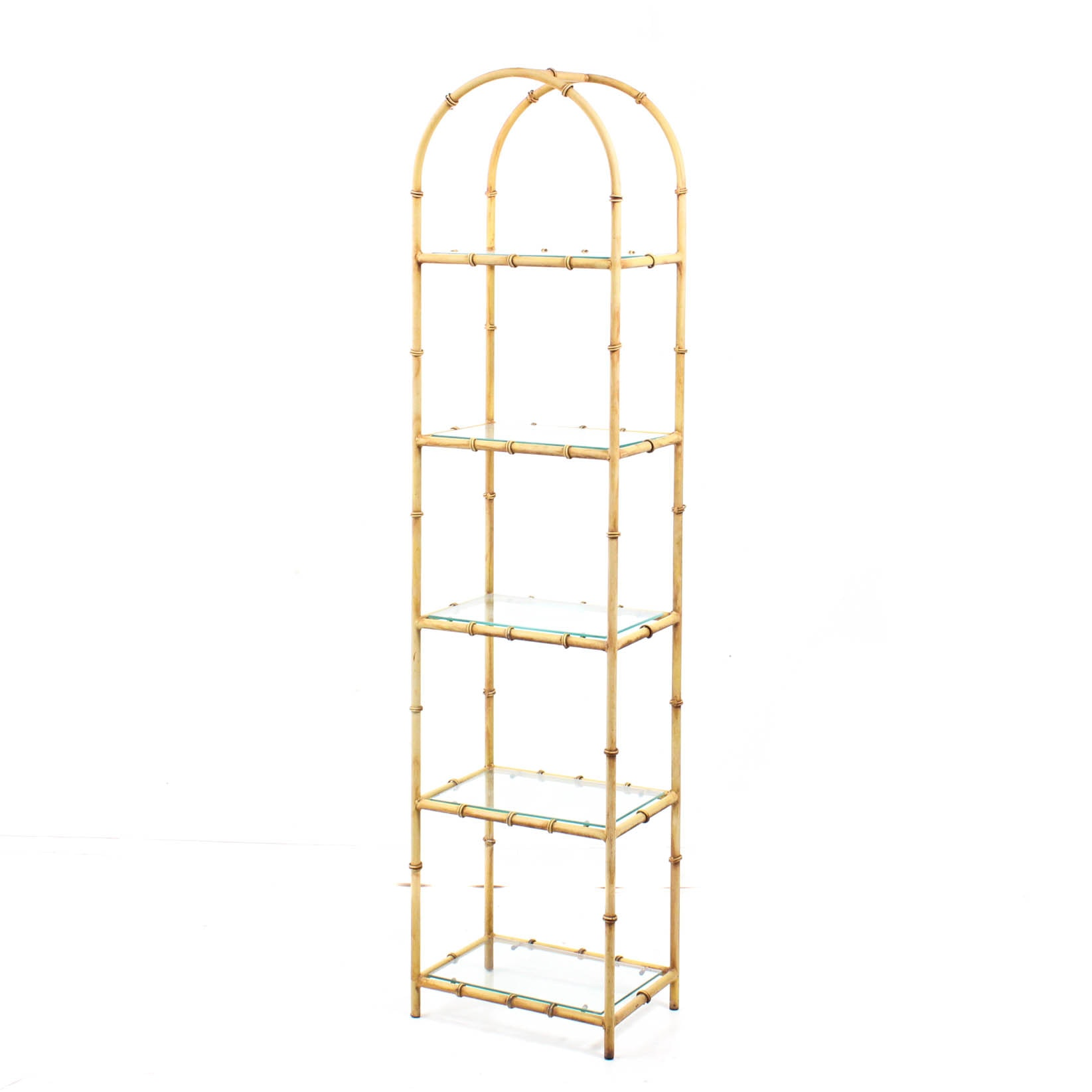 Faux Bamboo Metal Etagere