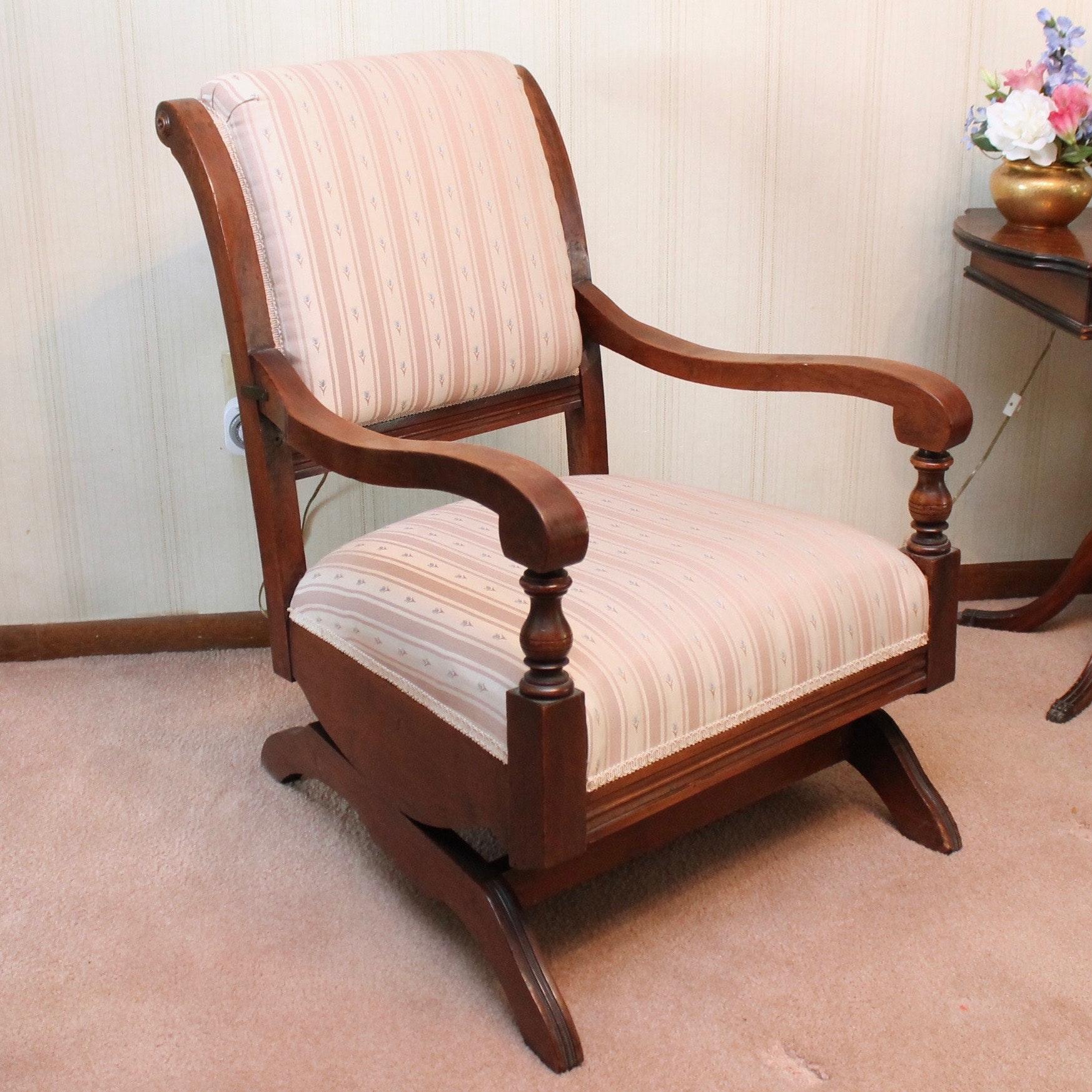 Antique Walnut Rocking Chair