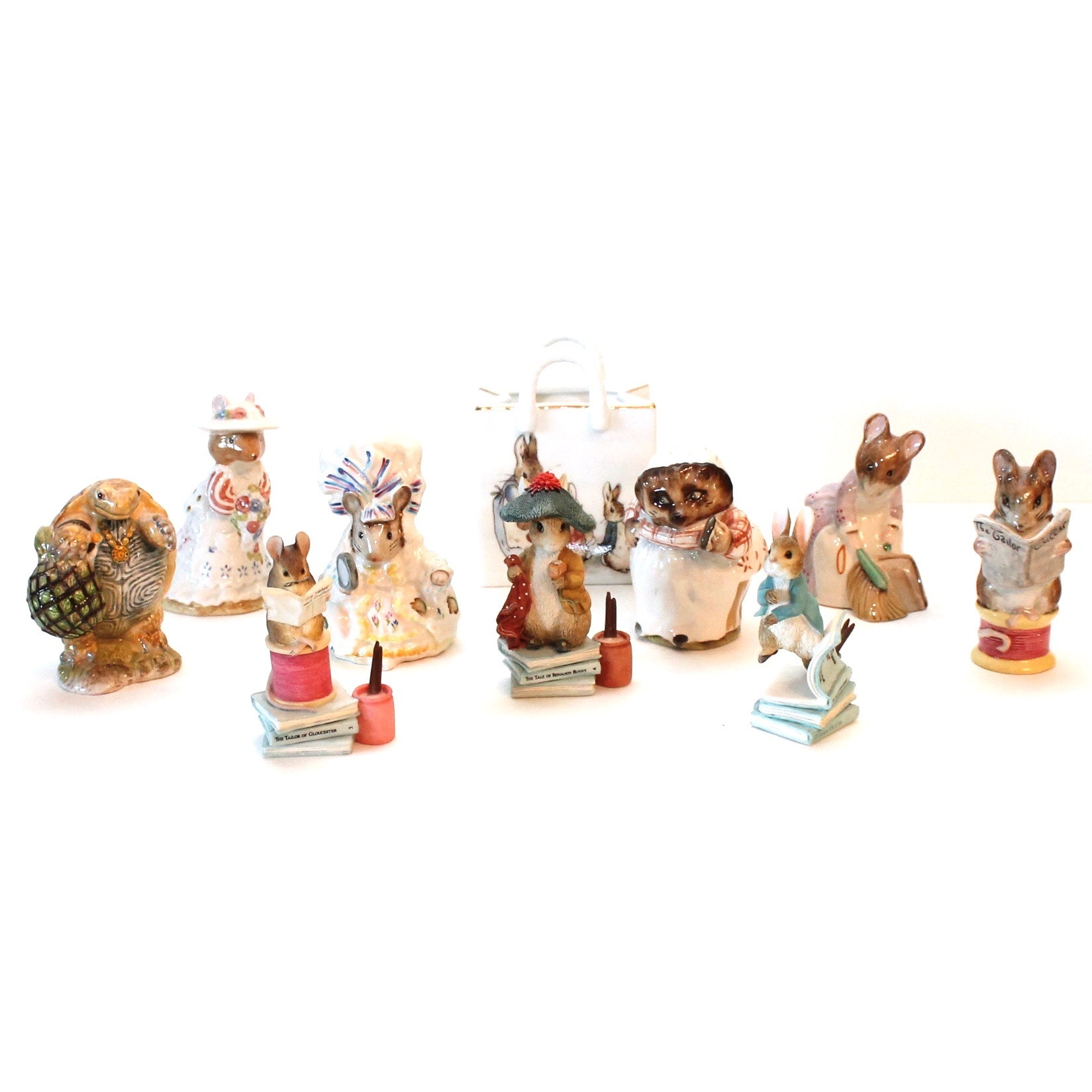 Beatrix Potter Figurines Including Beswick, Royal Doulton, Royal Albert, F. W.