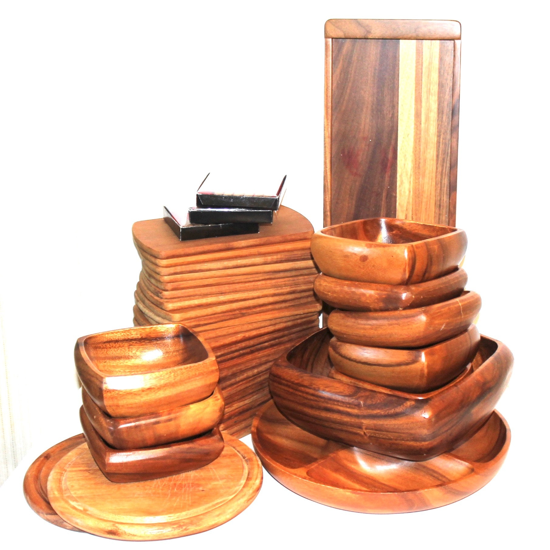 Monkey Pod and Exotic Hardwood Tableware