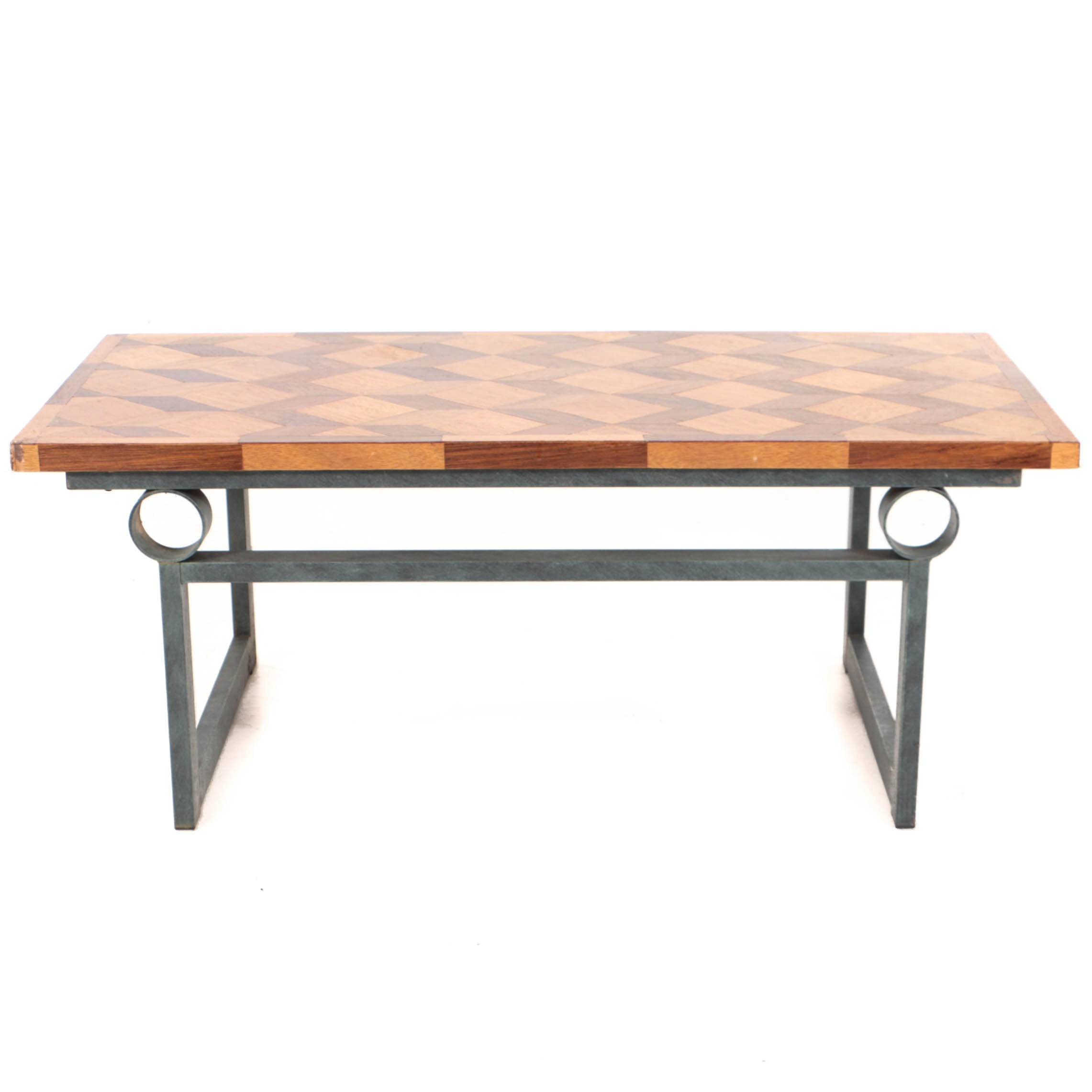 Vintage Parquetry-Top Coffee Table