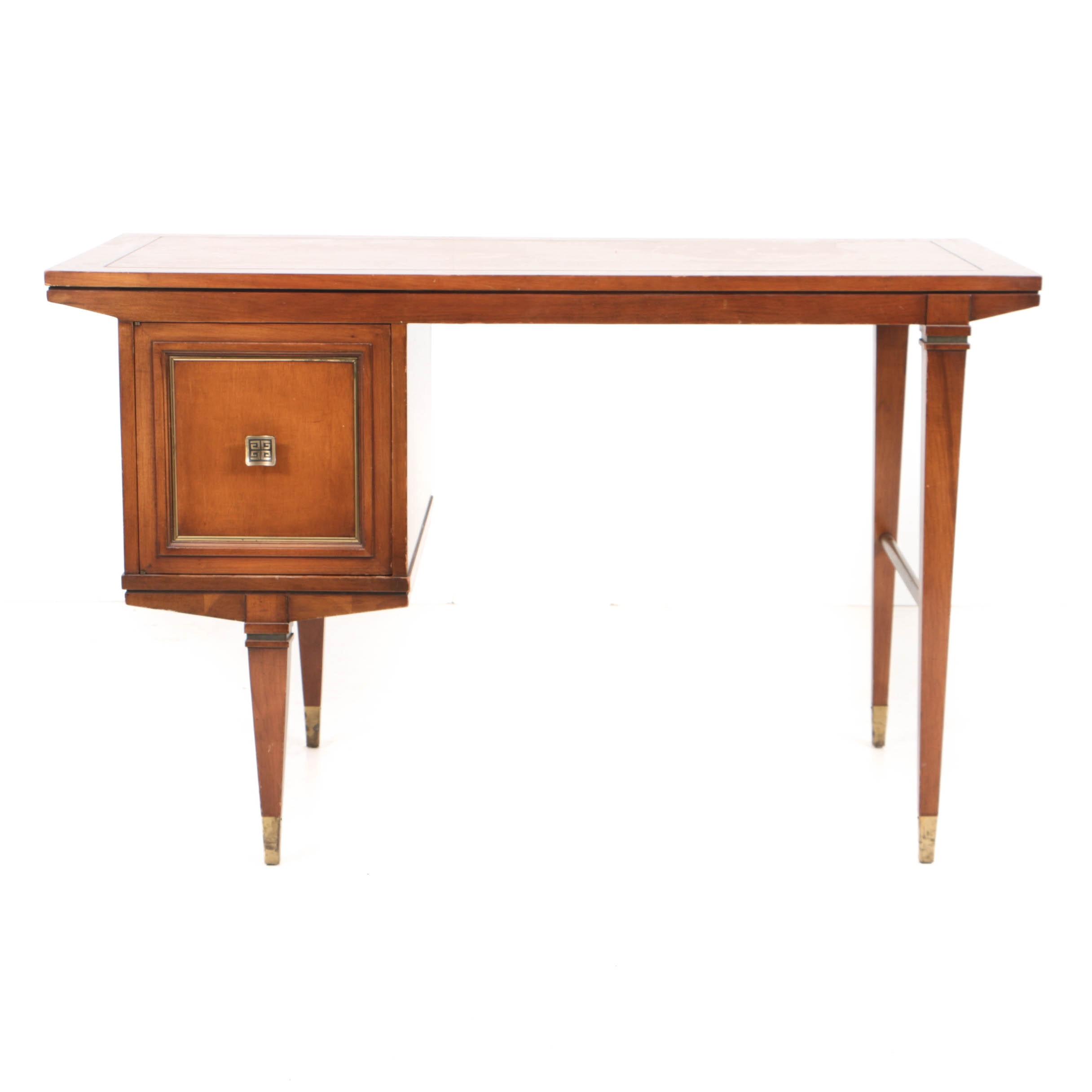 Mid-Century Single-Pedestal Writing Desk