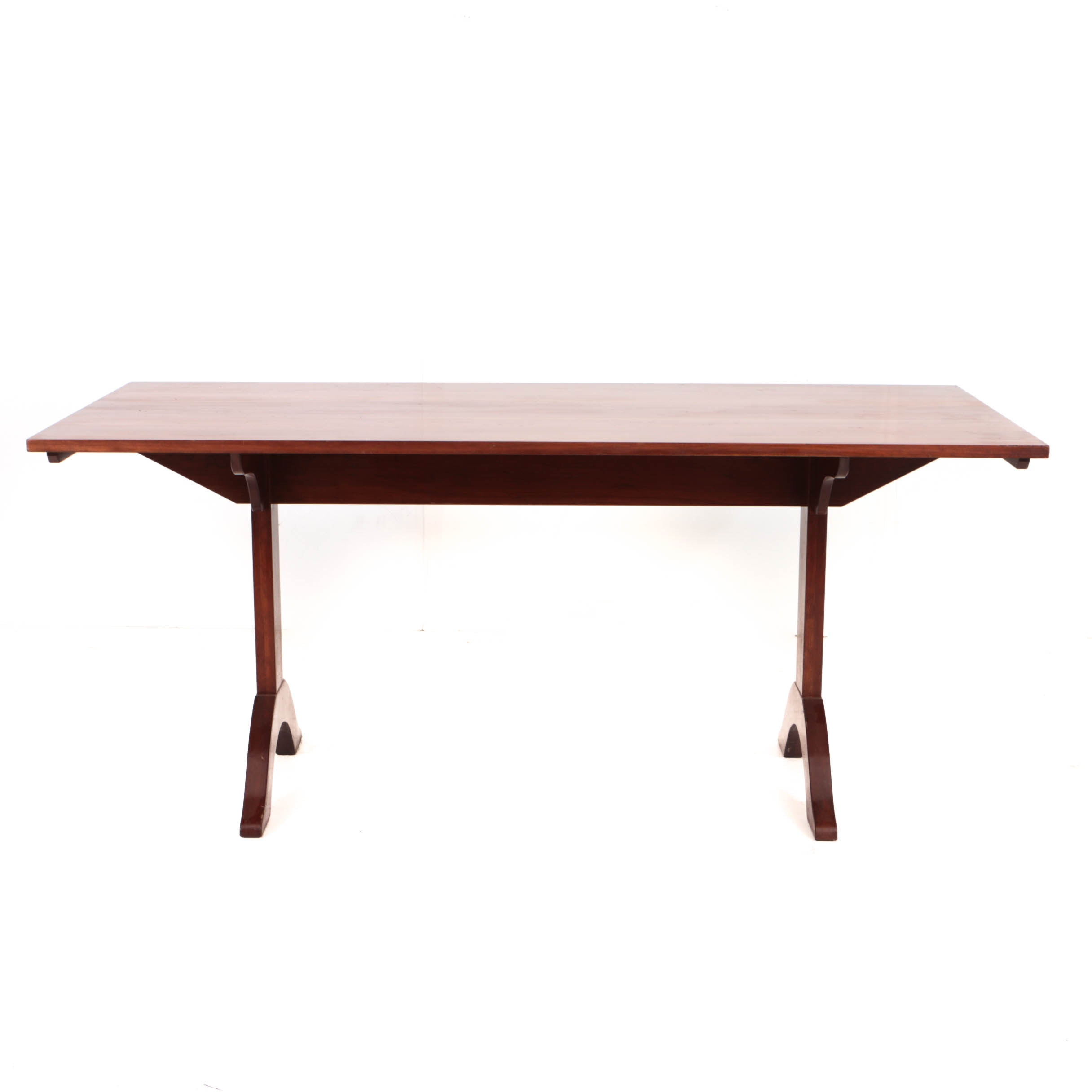 Vintage Cherry Trestle Dining Table