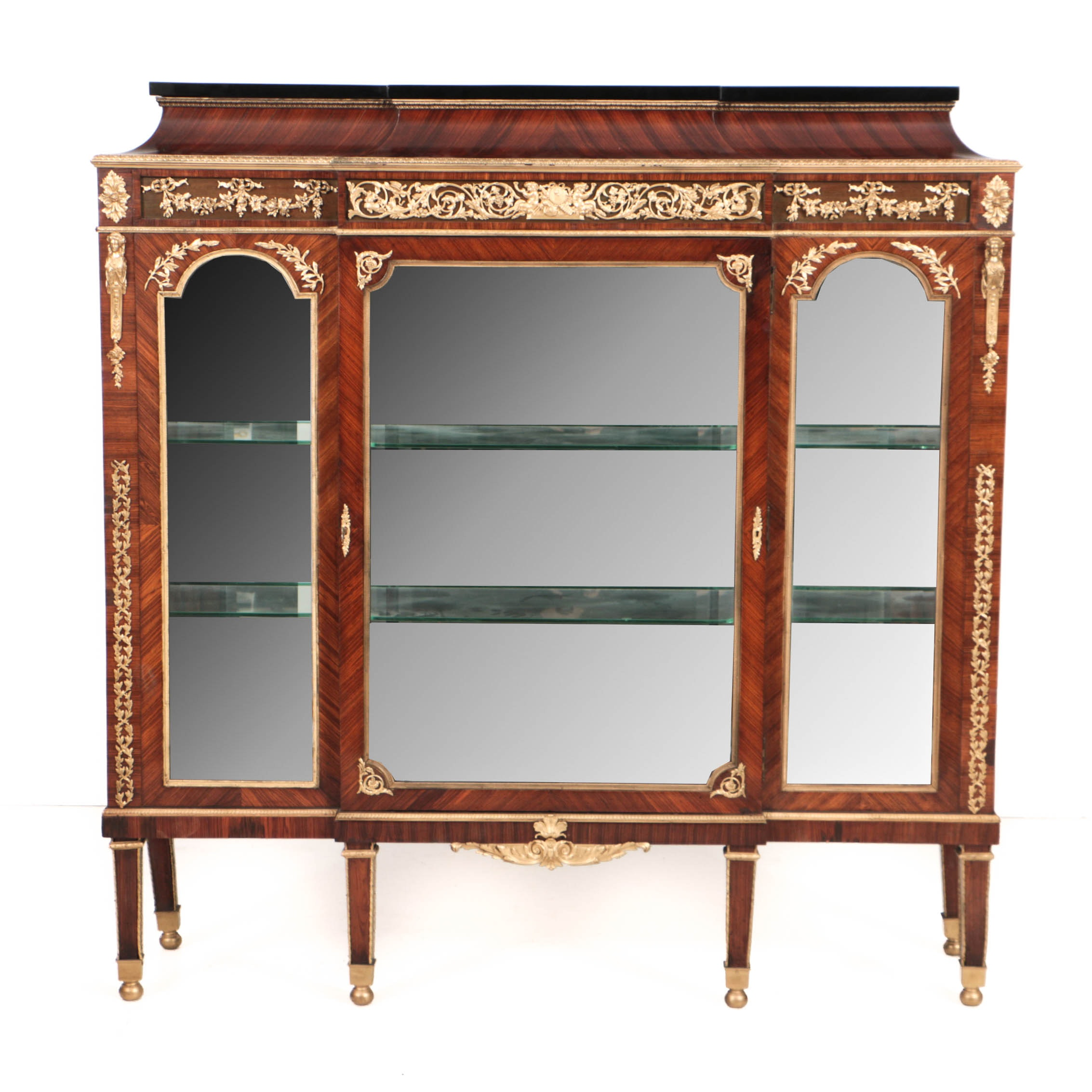 Early 20th Century French Neoclassical Style Kingwood and Gilt-Metal Vitrine