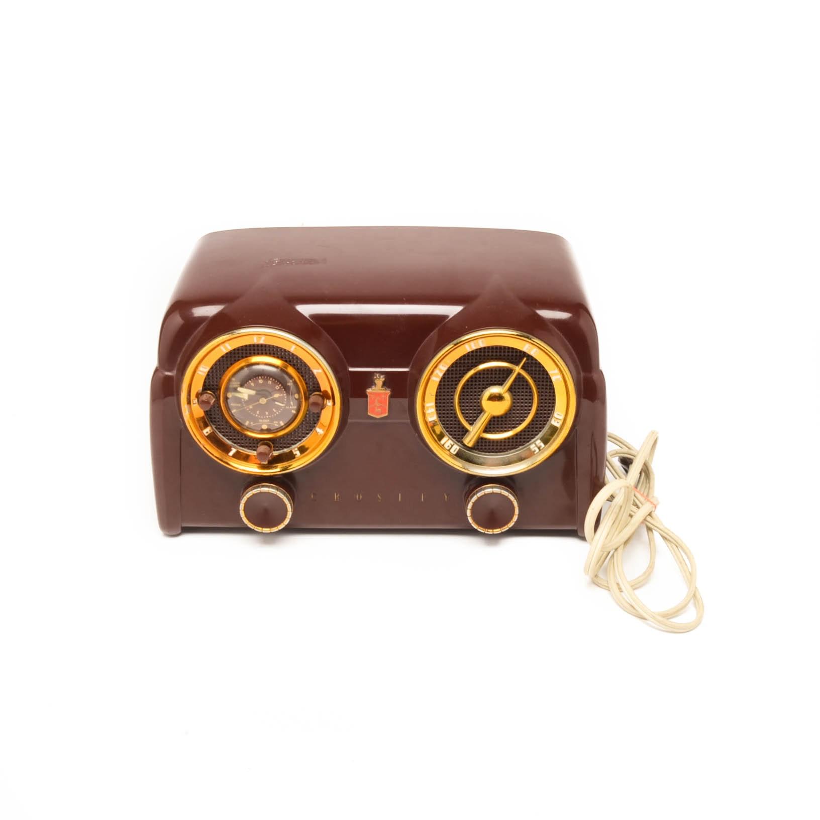 1950s Crosley DC25 Clock Radio