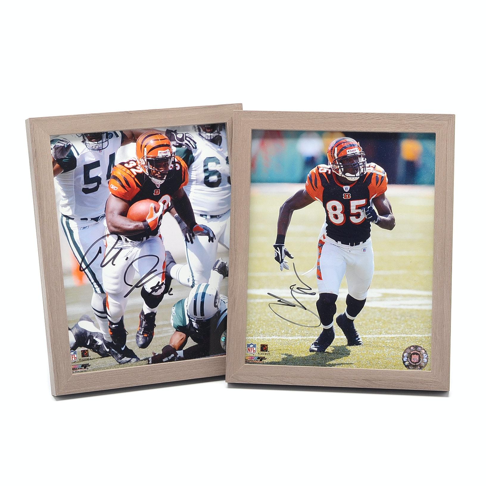 Rudi and Chad Johnson Cincinnati Bengals Signed NFL Framed Photo Prints