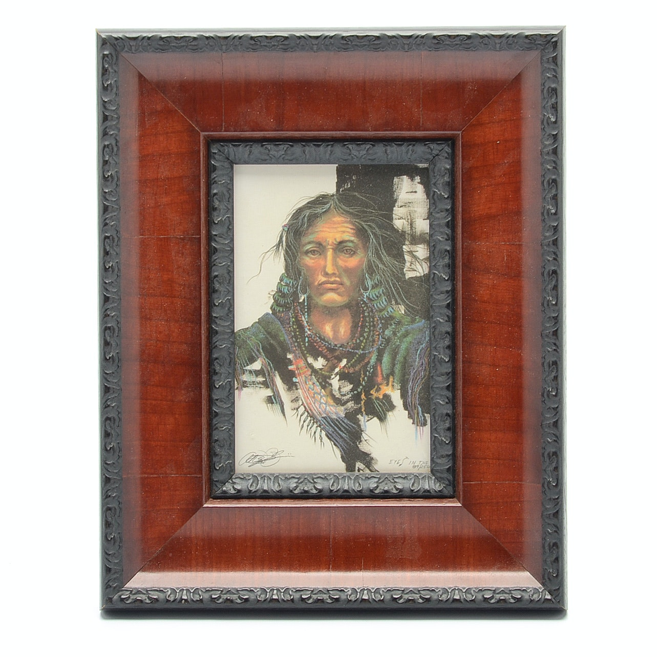 """1992 Albert T. Purvis """"Eyes In The Dark"""" Limited Edition Framed Lithograph"""