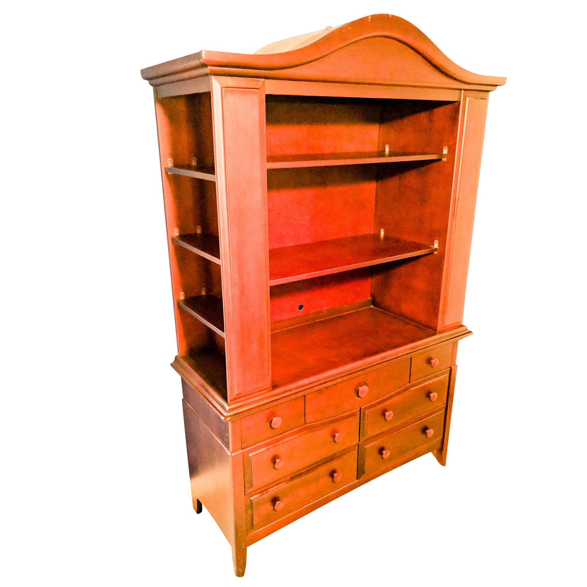 Convertible Shelving Armoire and Changing Table
