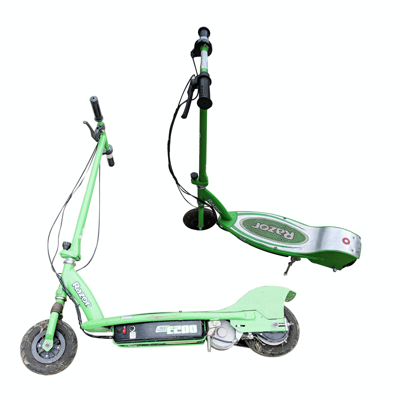 Two Razor E200 Electric Scooters