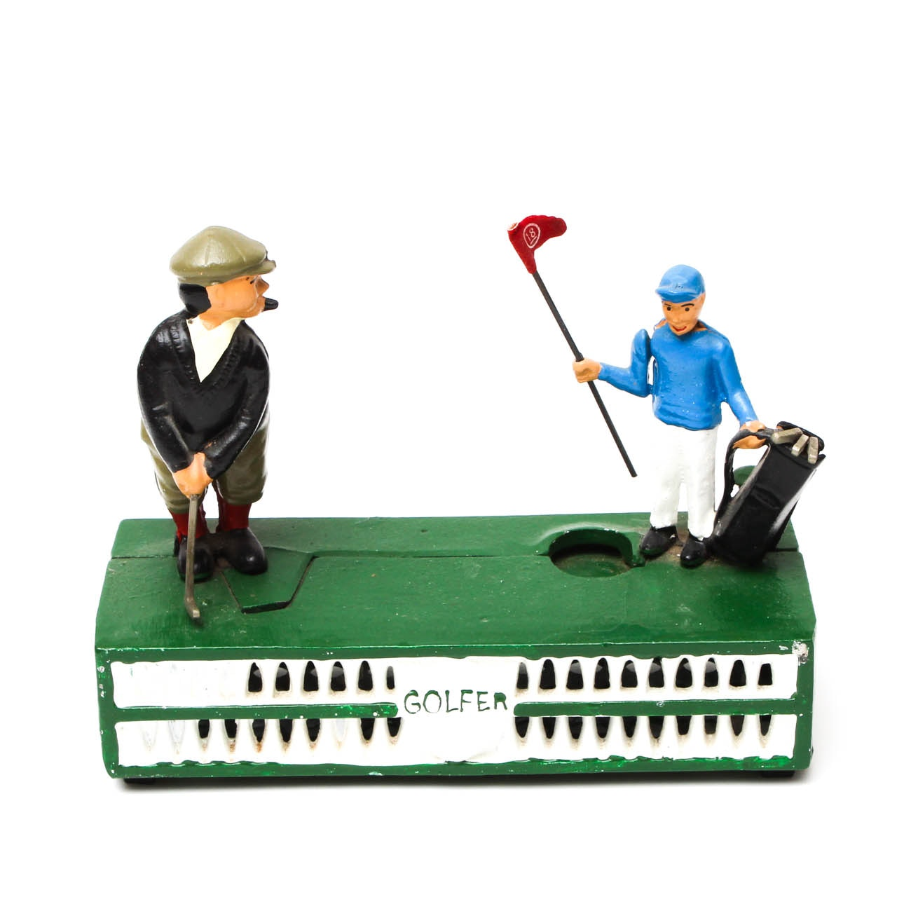 "Reproduction Cast Iron ""Golfer"" Coin Bank"