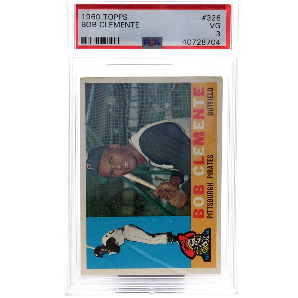 1960 Topps #326 Bob (Roberto) Clemente PSA Graded Baseball Card