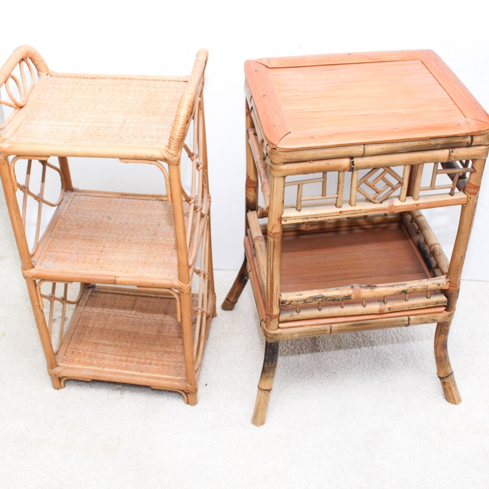Vintage Bamboo Accent Tables