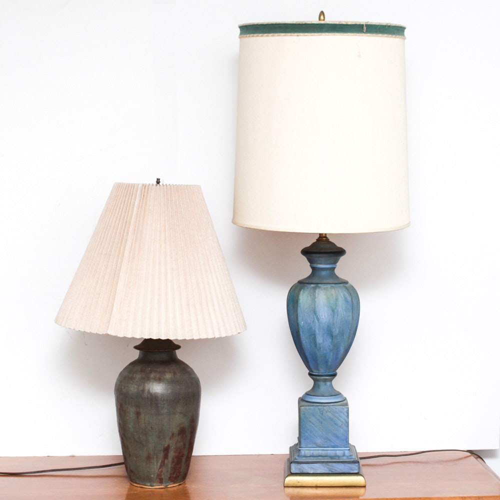 Pair of Vintage Ceramic Table Lamps