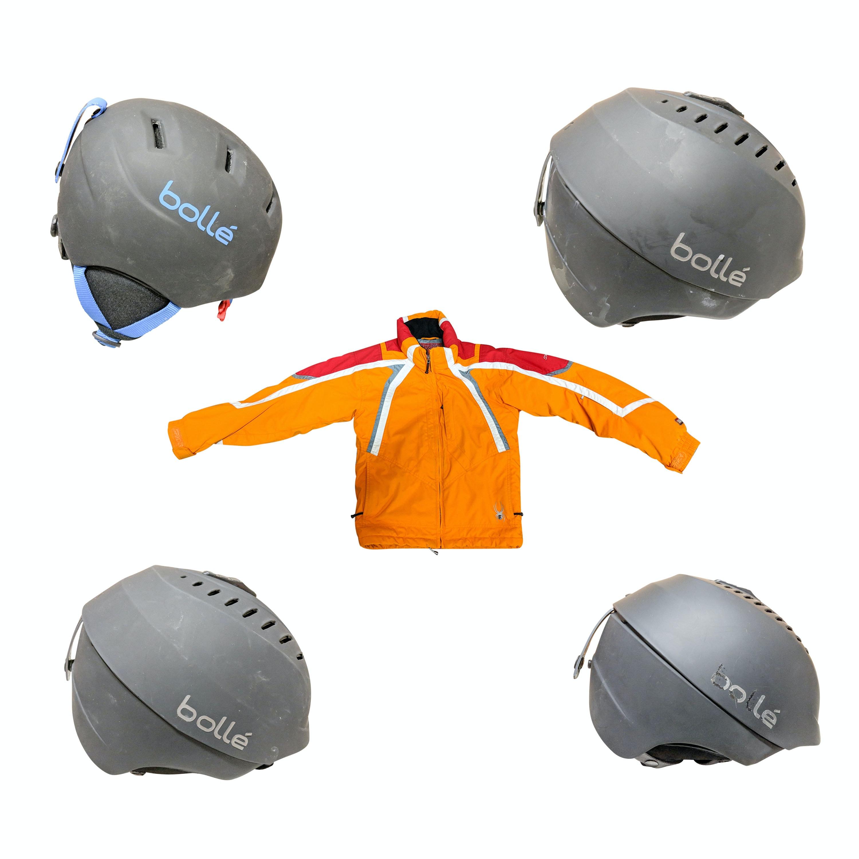 Kid's Spyder Ski Jacket and Four Bolle Adult and Kid's Ski Helmets