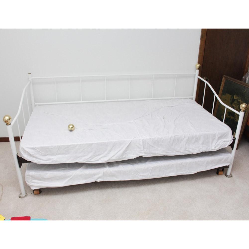 Metal Framed Trundle Bed