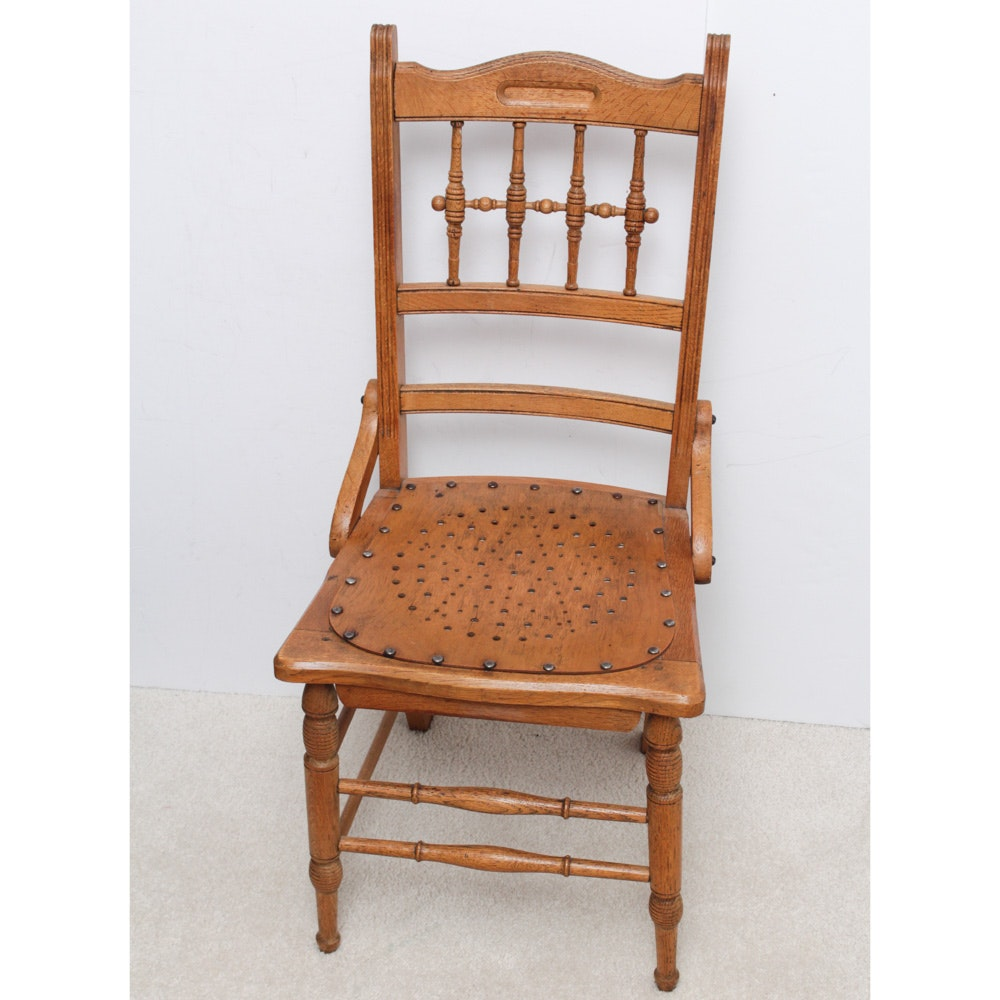 Antique Turned Oak Chair