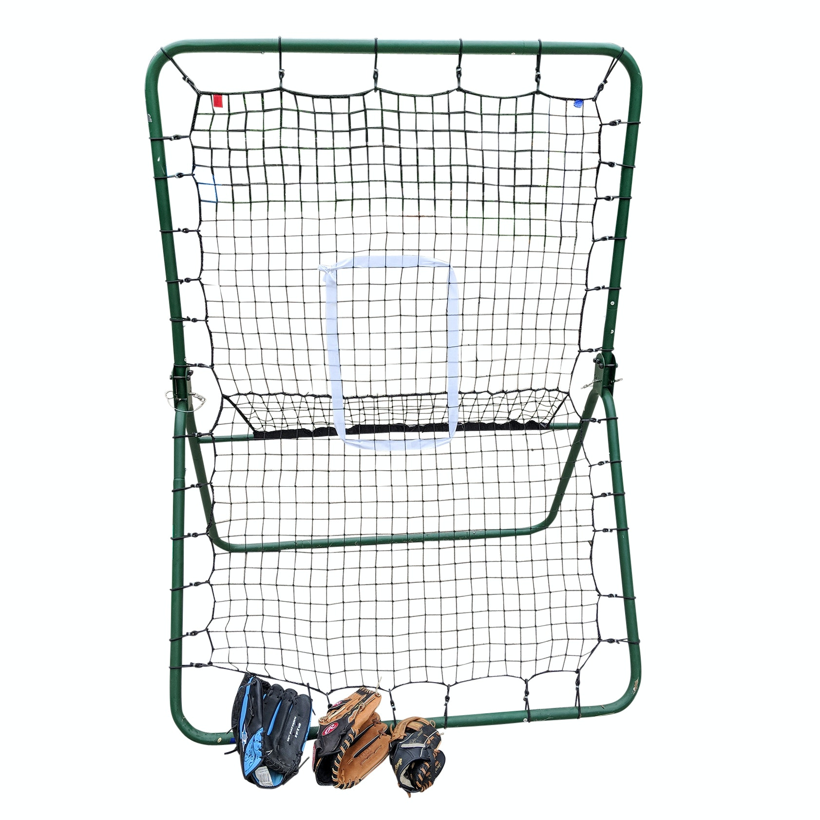 Baseball Pitching Net and Gloves