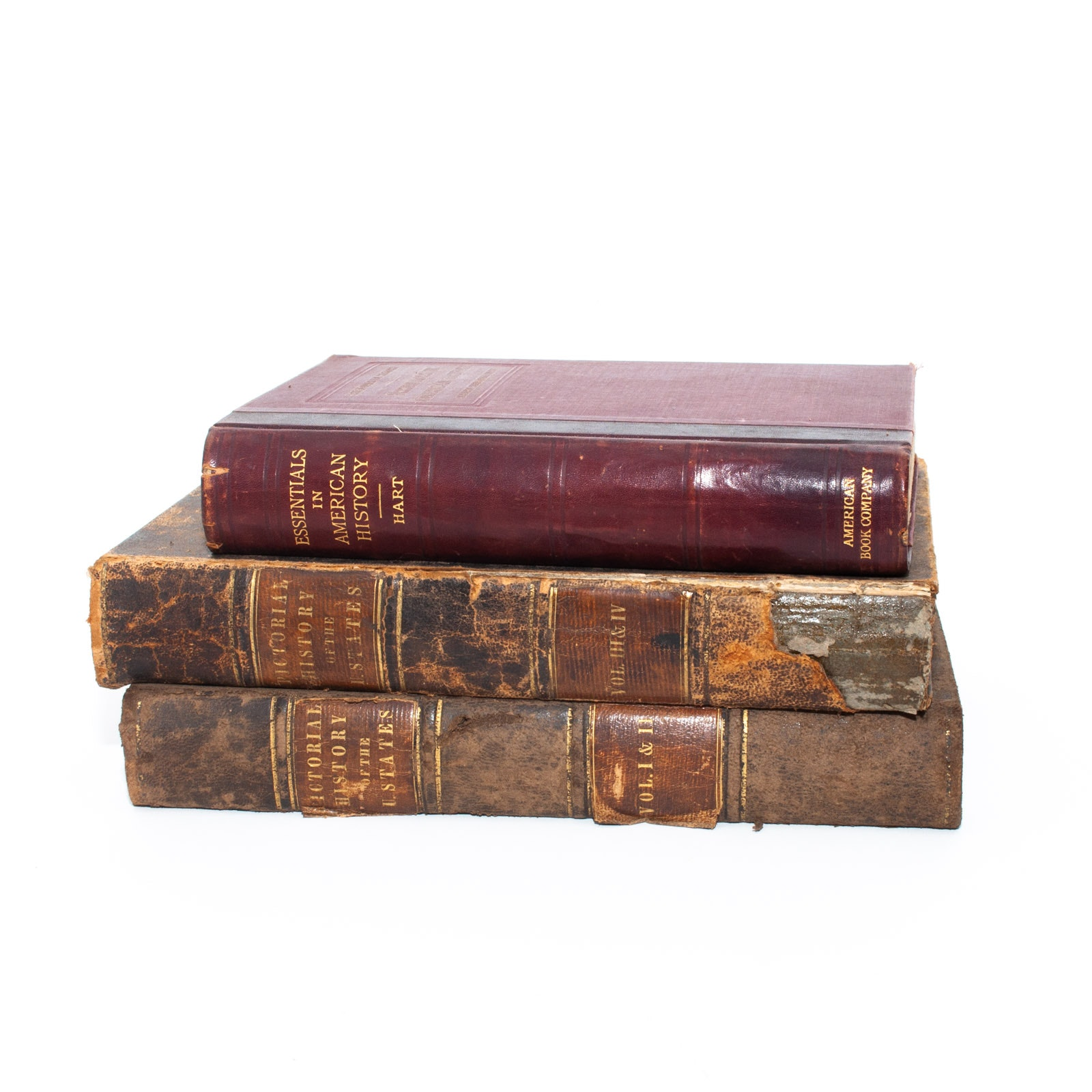 Set of Antique American History Books