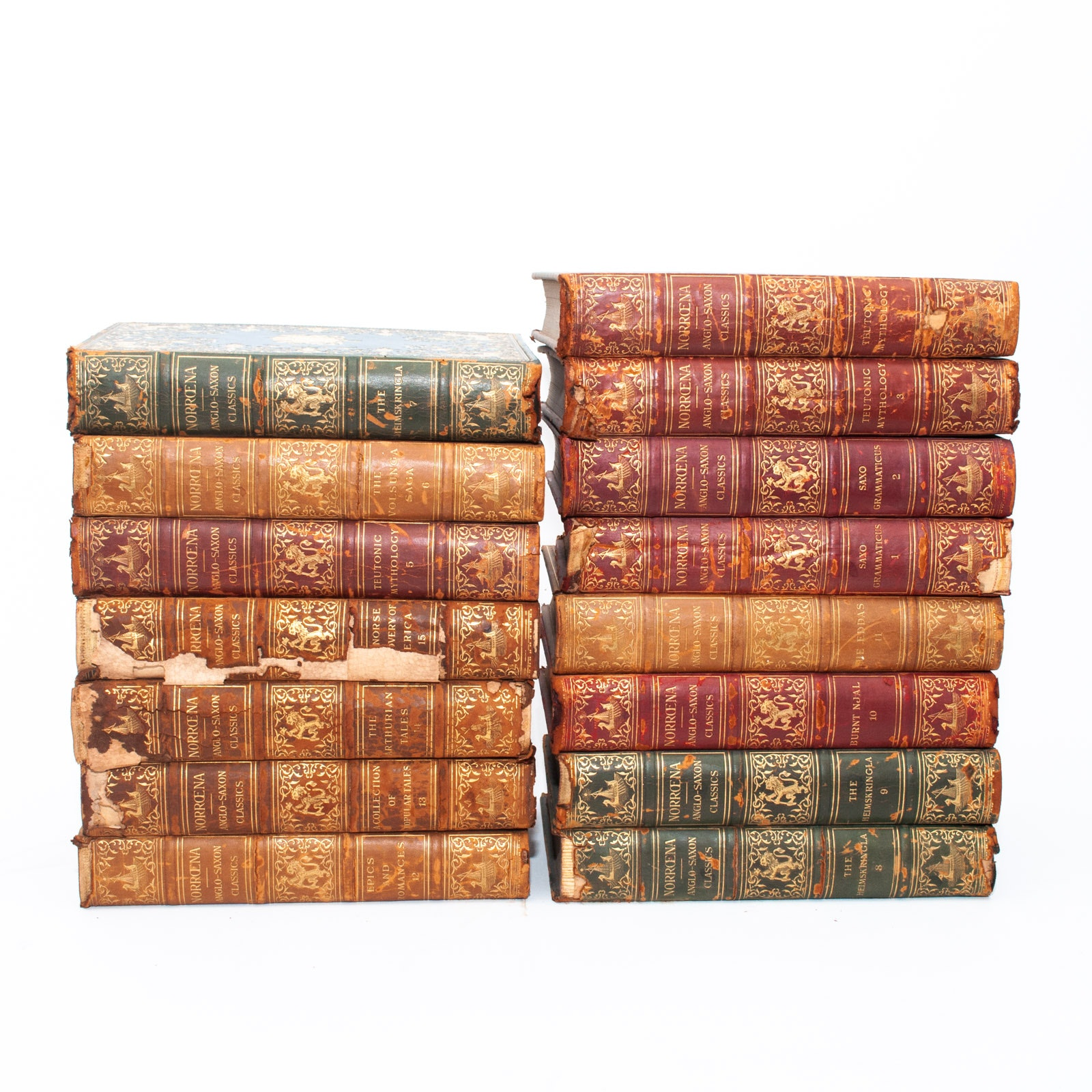 1907 Complete Set of Imperial Edition Norroena Society Anglo-Saxon Classics