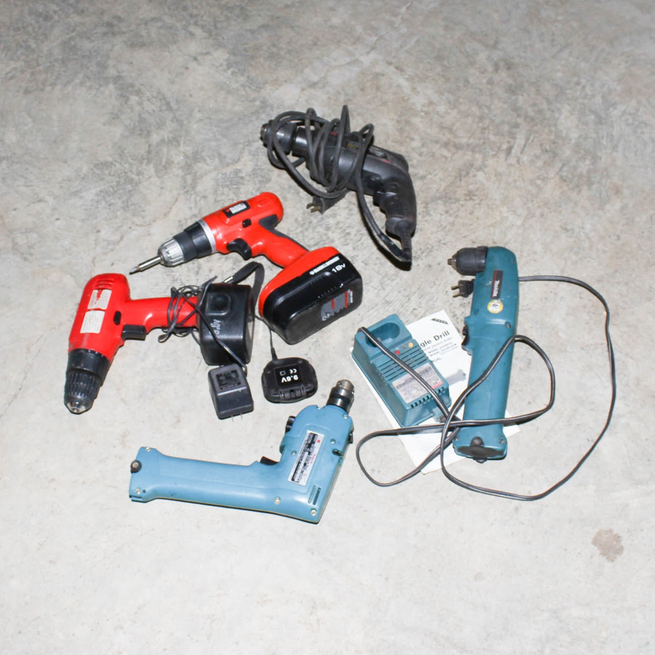 Assorted Drills and Accessories