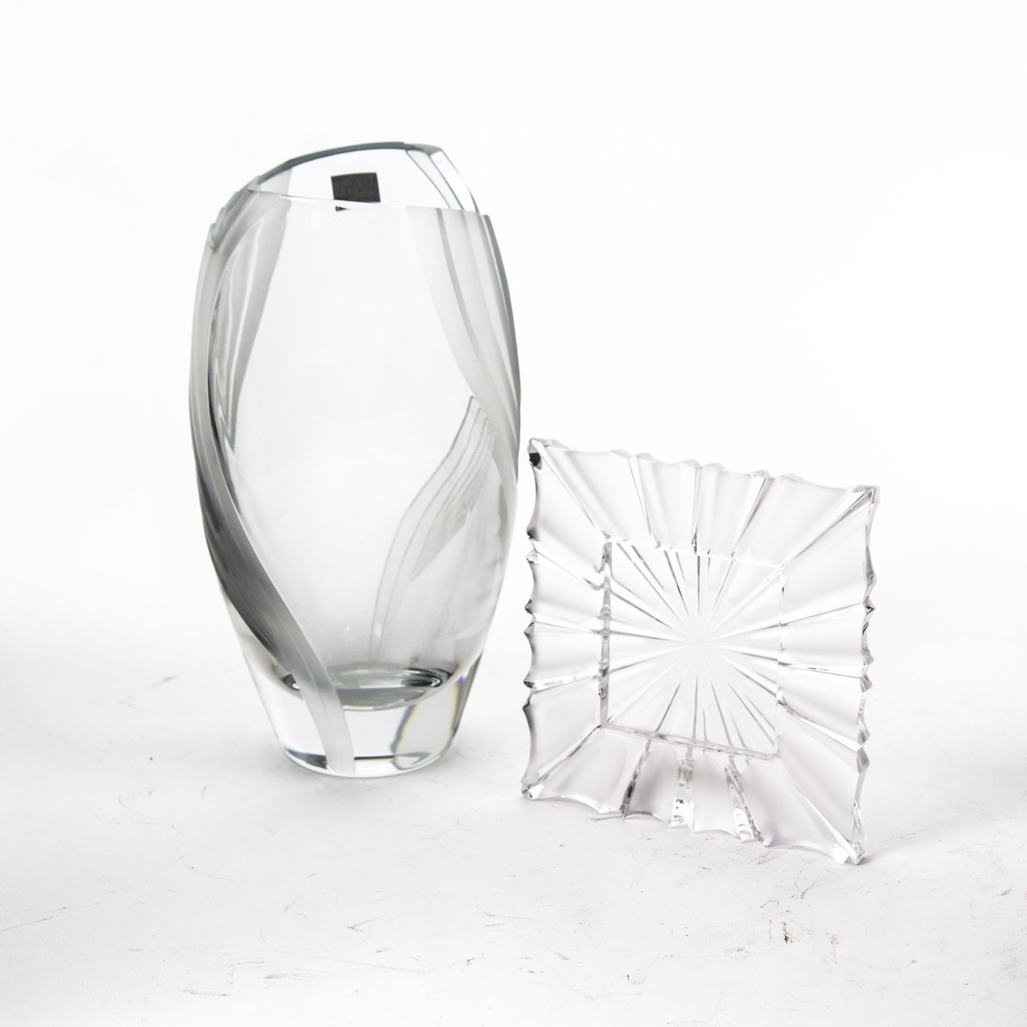Mikasa Crystal Vase and Picture Frame