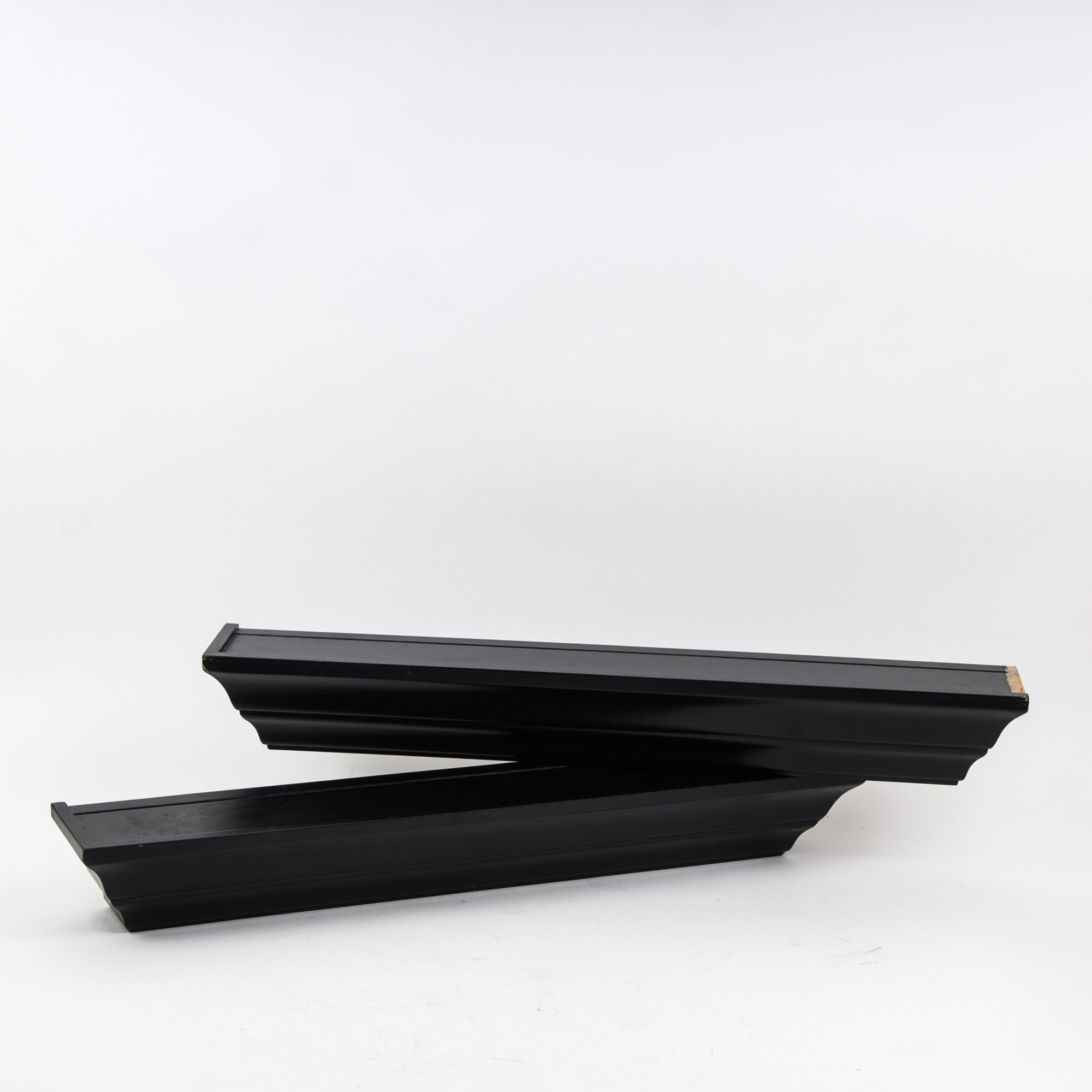 Black Wooden Shelving Units