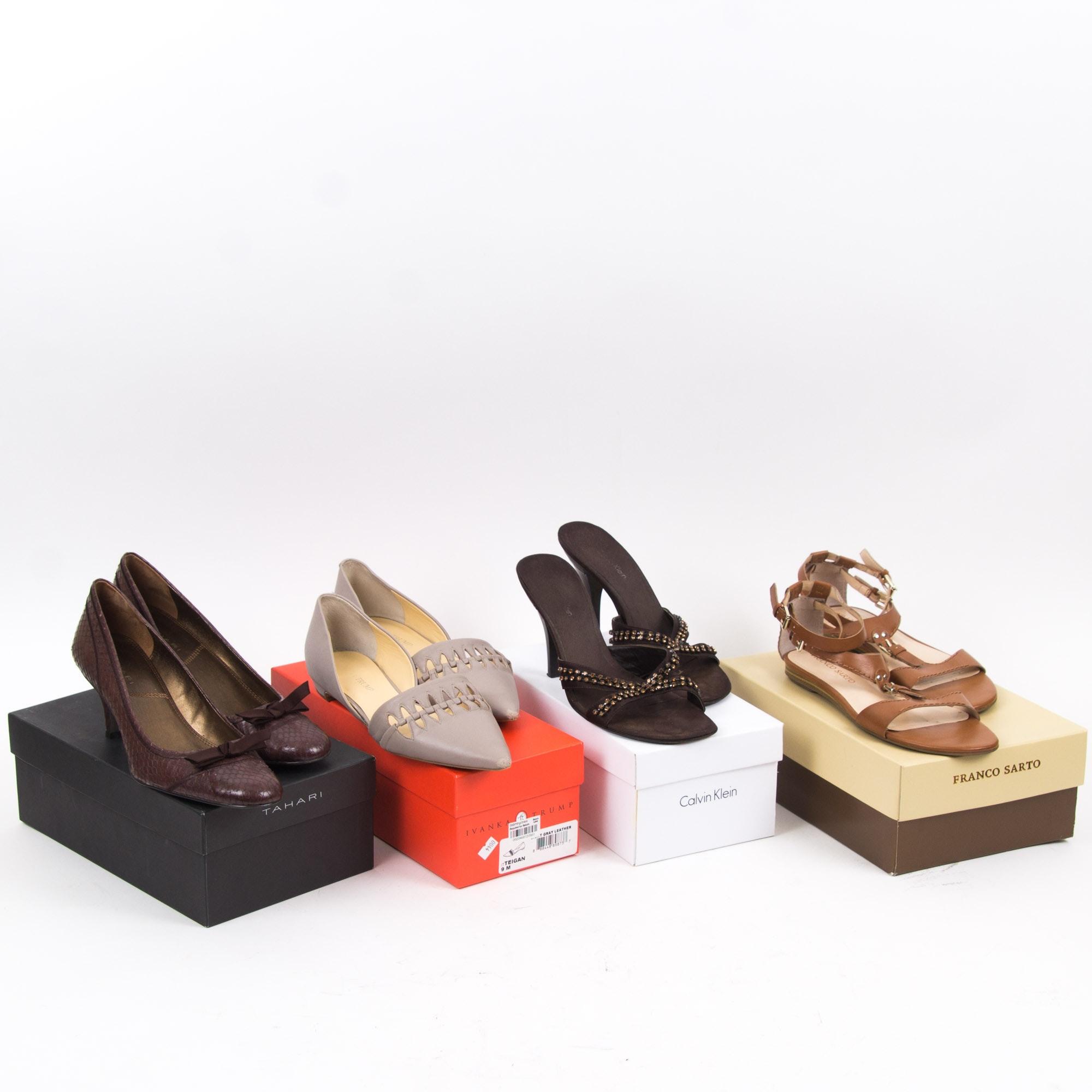 Women's Designer Shoes Including Calvin Klein, Franco Sarto, and Tahari