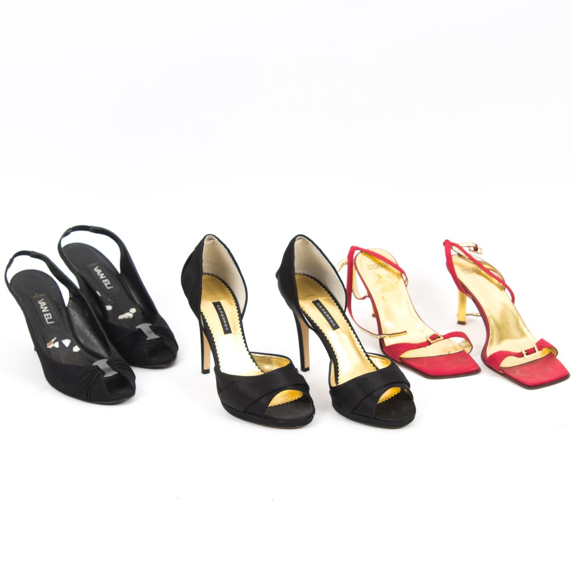 Three Pair of Designer Heels Including Charles David