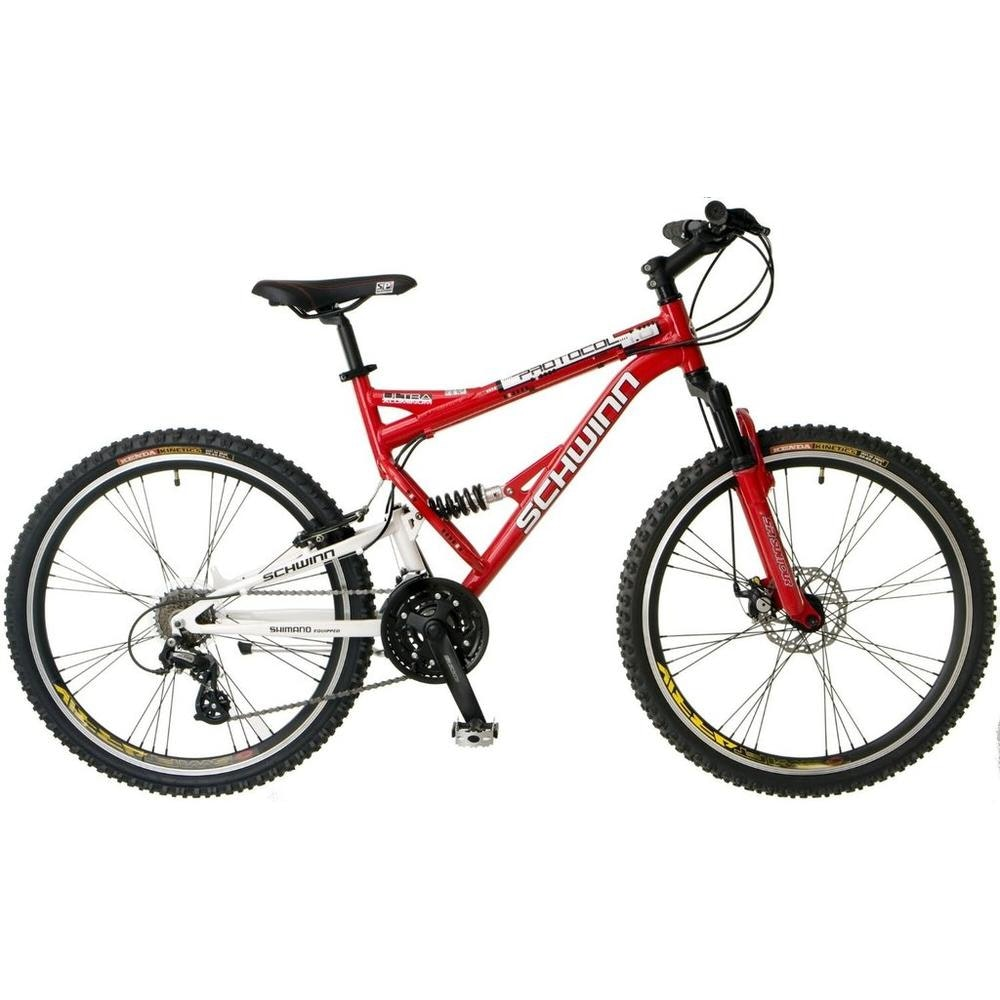 "Schwinn Men's Protocol 24 Speed Suspension Mountain Bike with 26"" Frame"