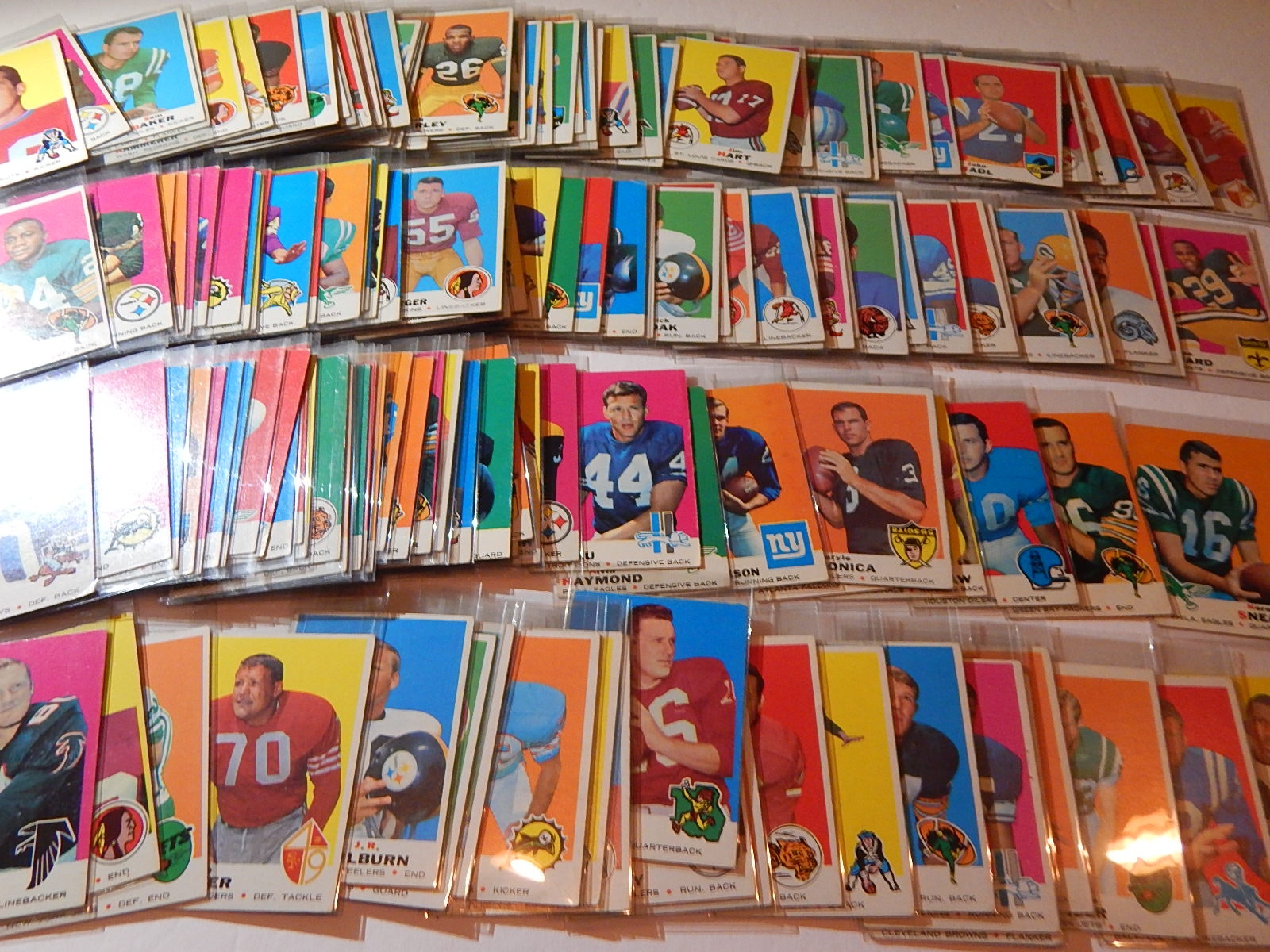 1969 Topps Football Card Collection - Over 150 Card Count