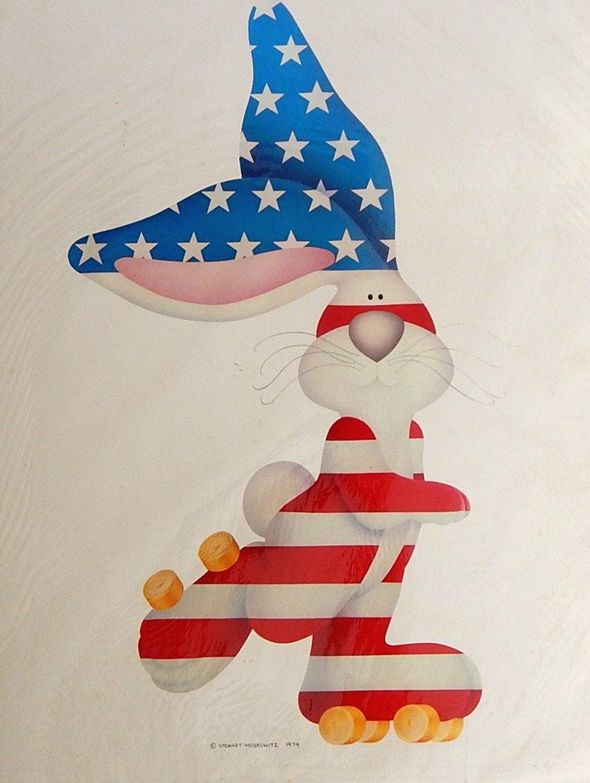 "1974 Stewart Moskowitz ""American Bunny"" Unframed Print"