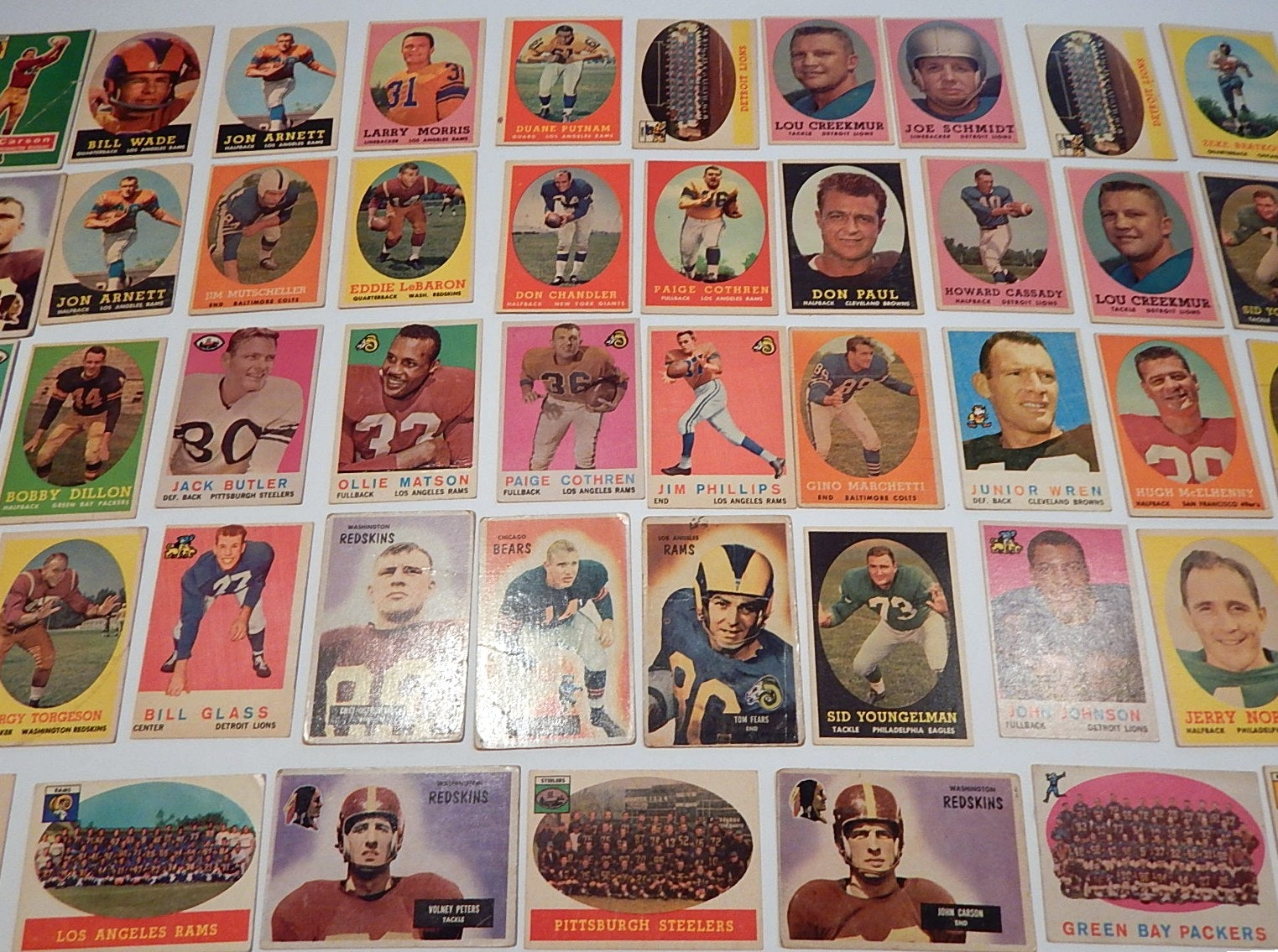 1950s Topps and Bowman Football Card Collection
