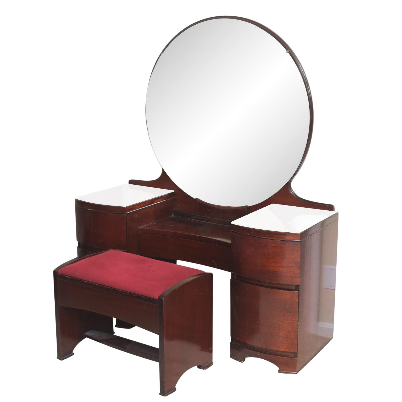 Art Deco Style Vanity Set from Hecht Bros.