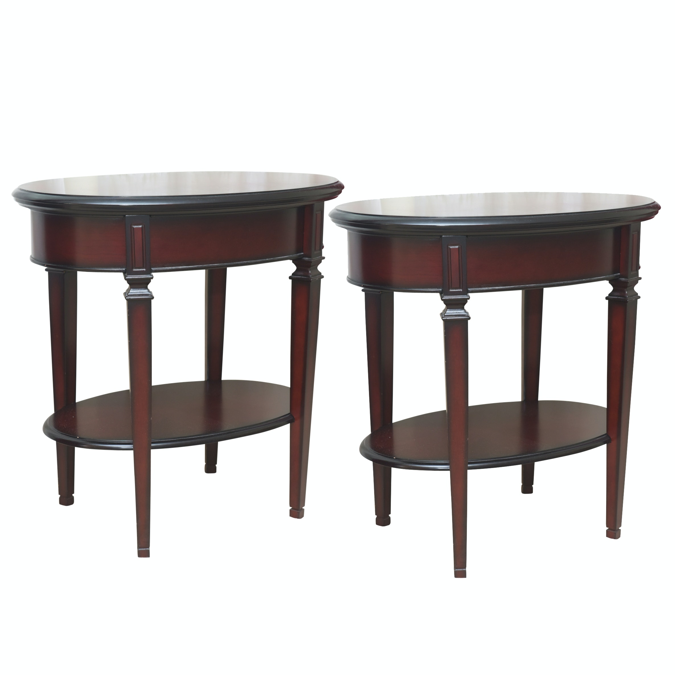 Mahogany Two-Tier Accent Tables by The Bombay Company
