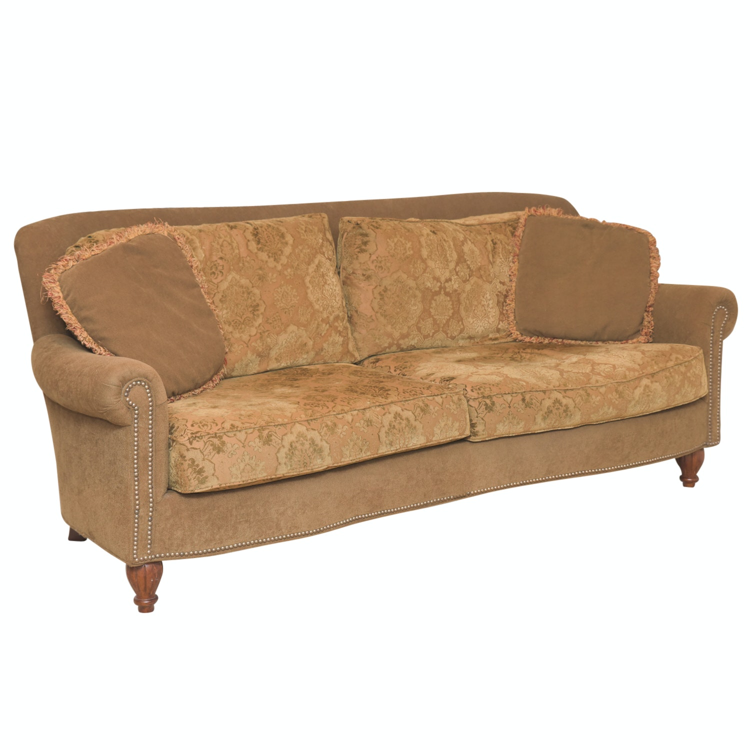 Fairfield Sofa With Floral Patterned Cushions ...